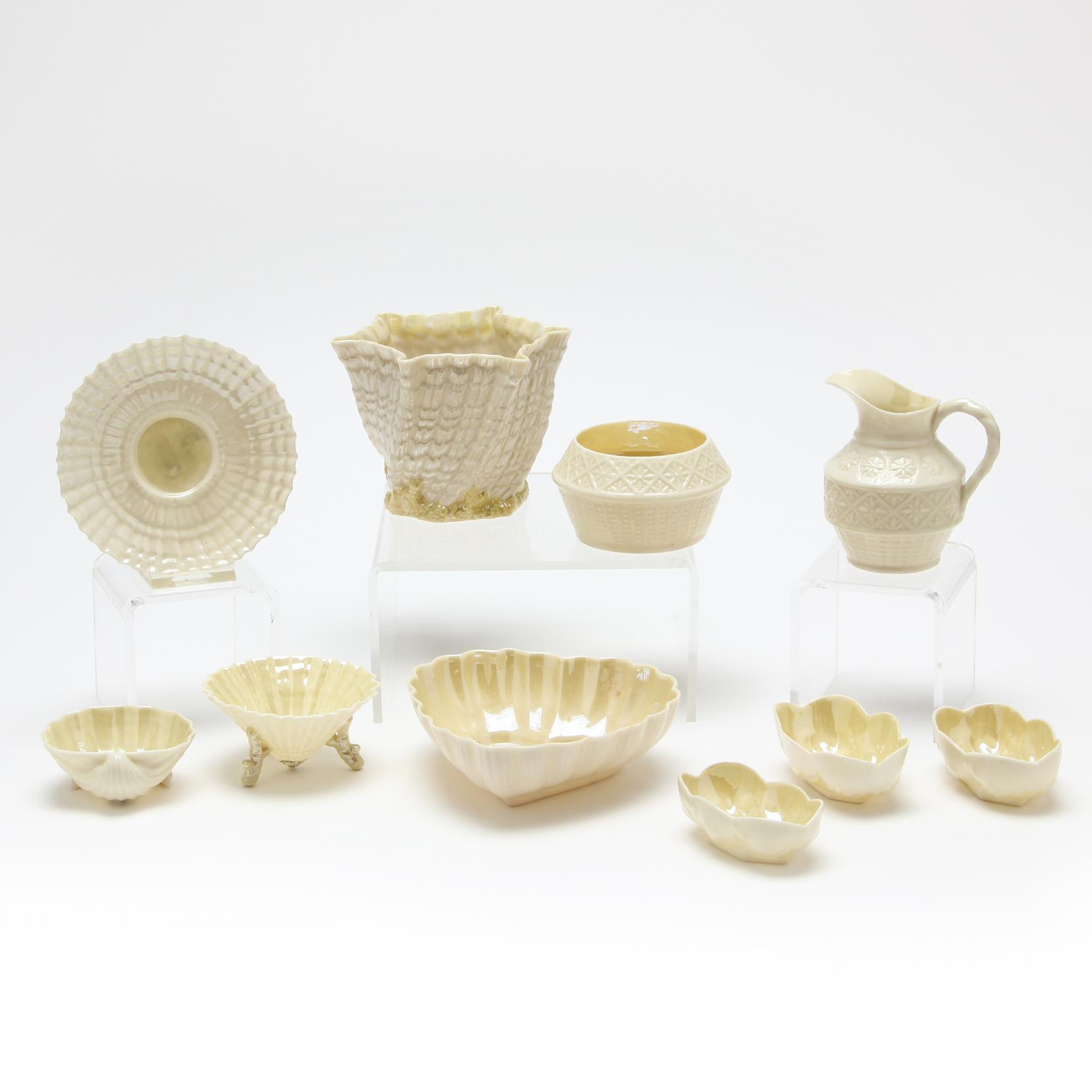 group-of-belleek-porcelains