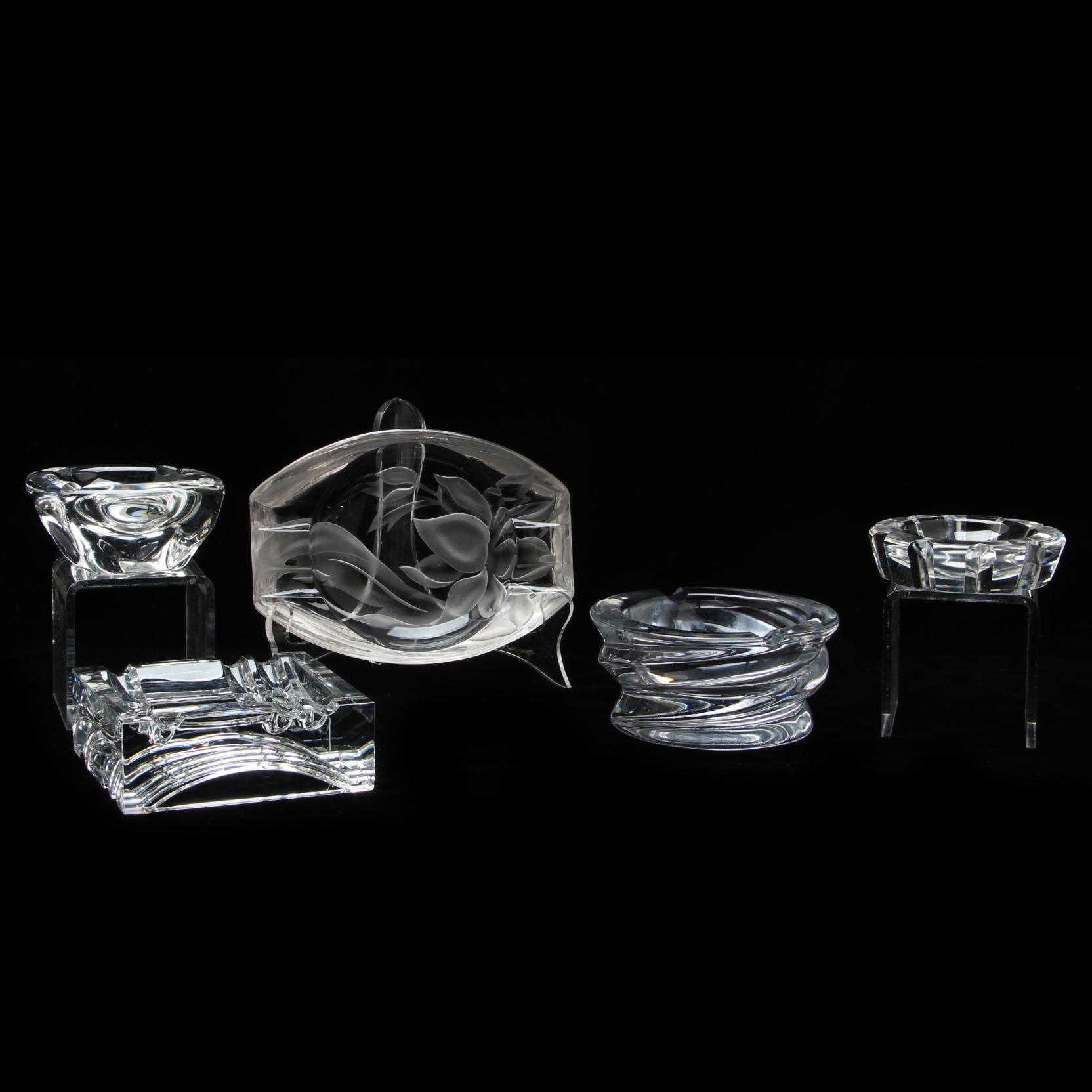 five-crystal-ashtrays