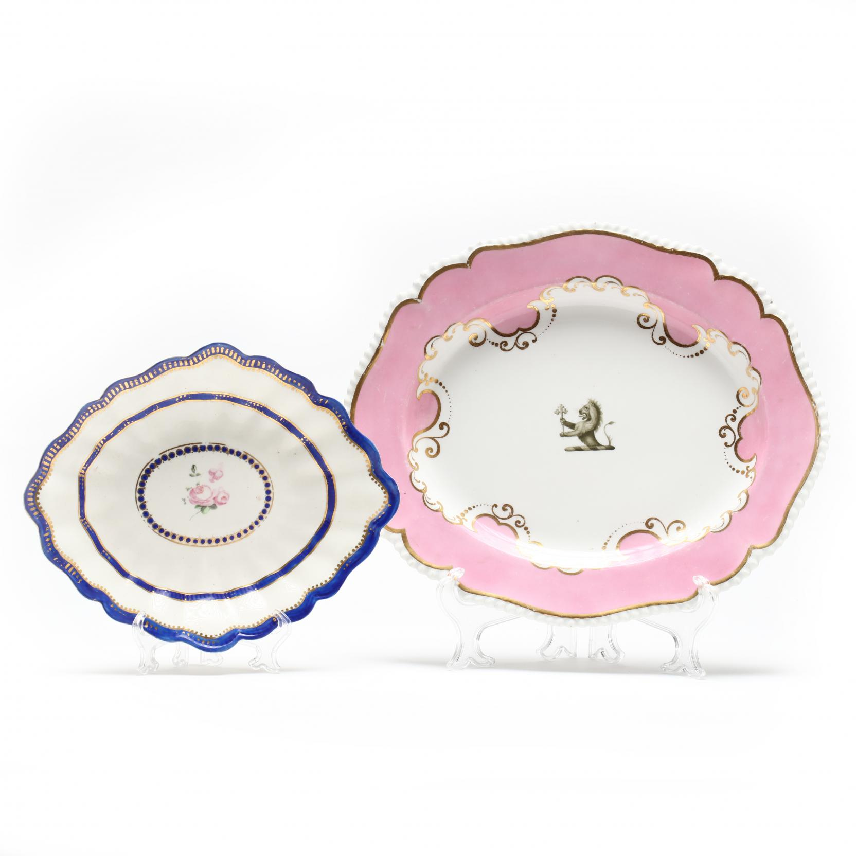 two-early-royal-crown-derby-platters