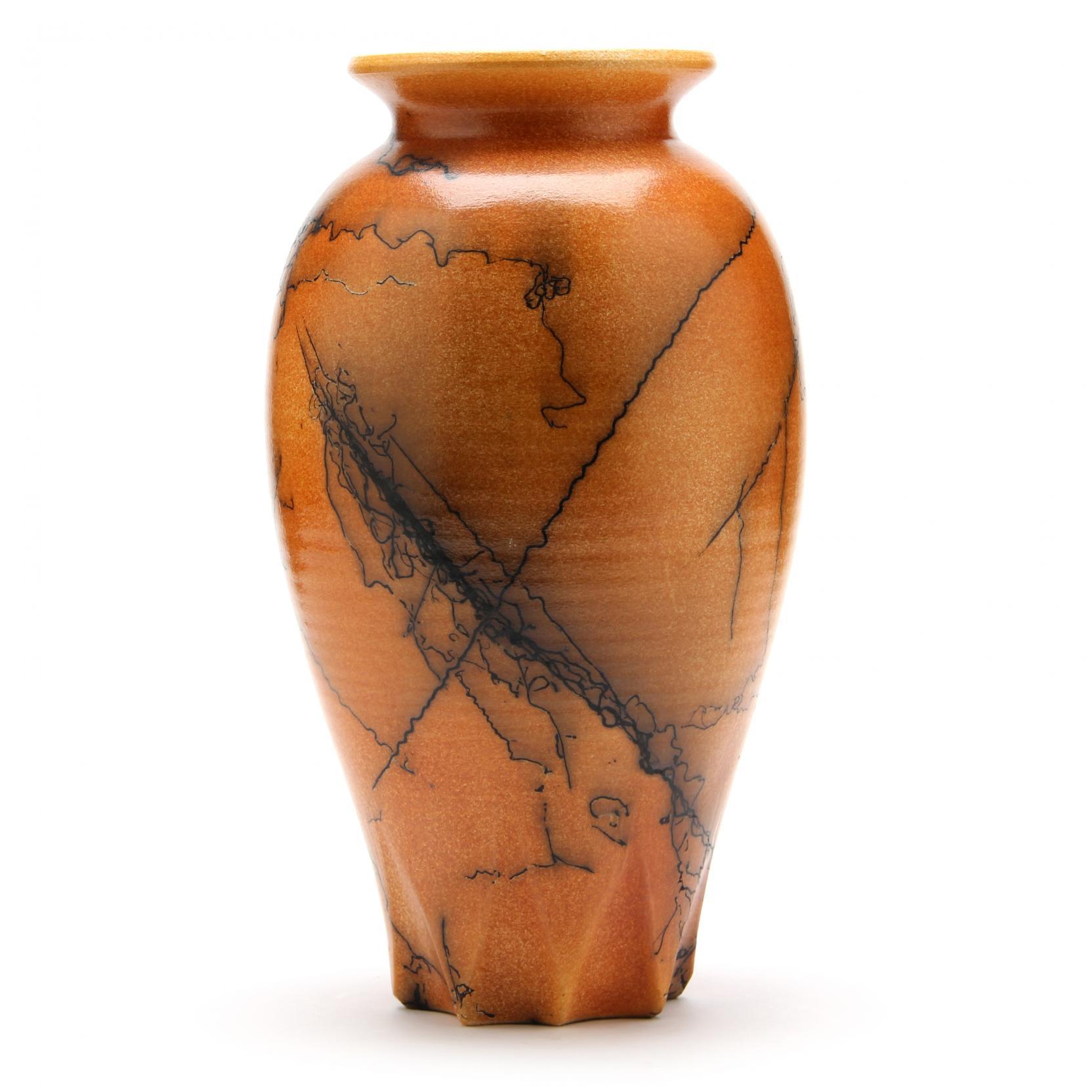 nc-pottery-jim-garner-horsehair-vase