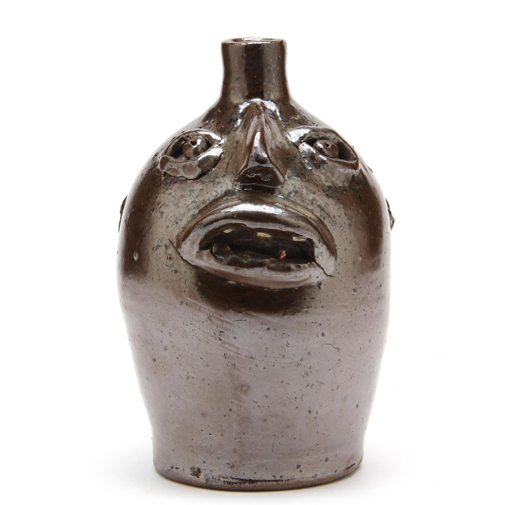nc-folk-pottery-brown-pottery-face-jug