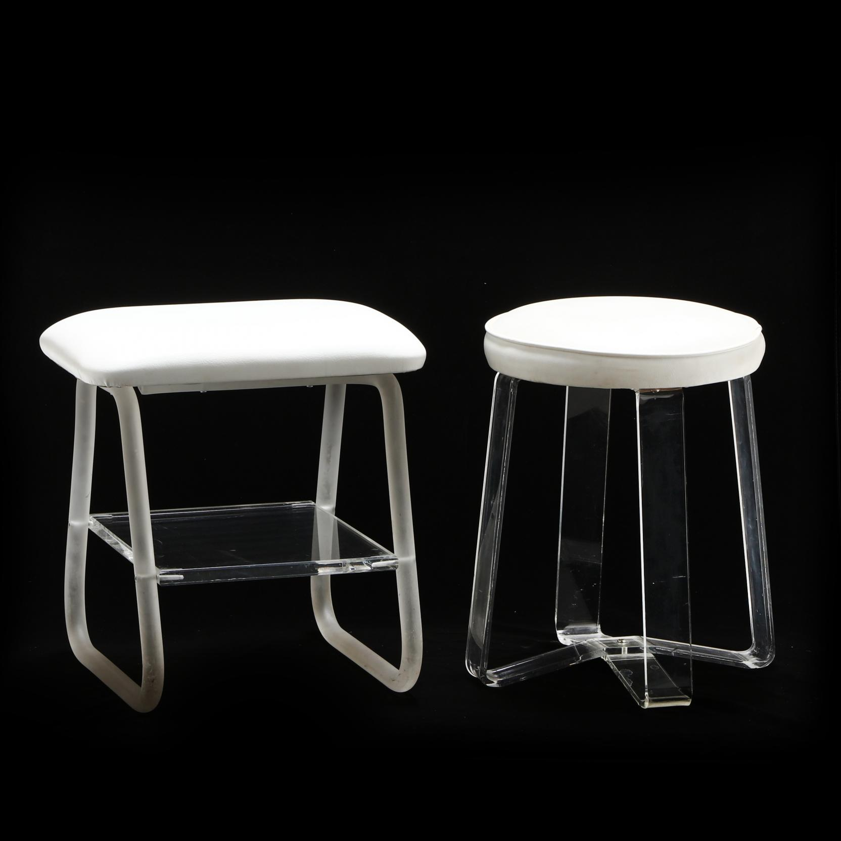 two-modernist-acrylic-stools