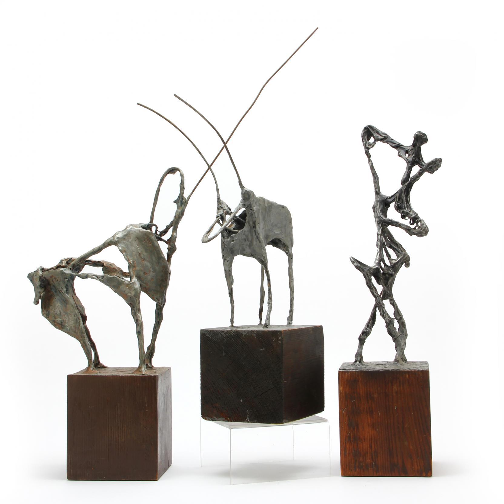 att-ray-fink-az-1922-1988-three-modern-sculptures