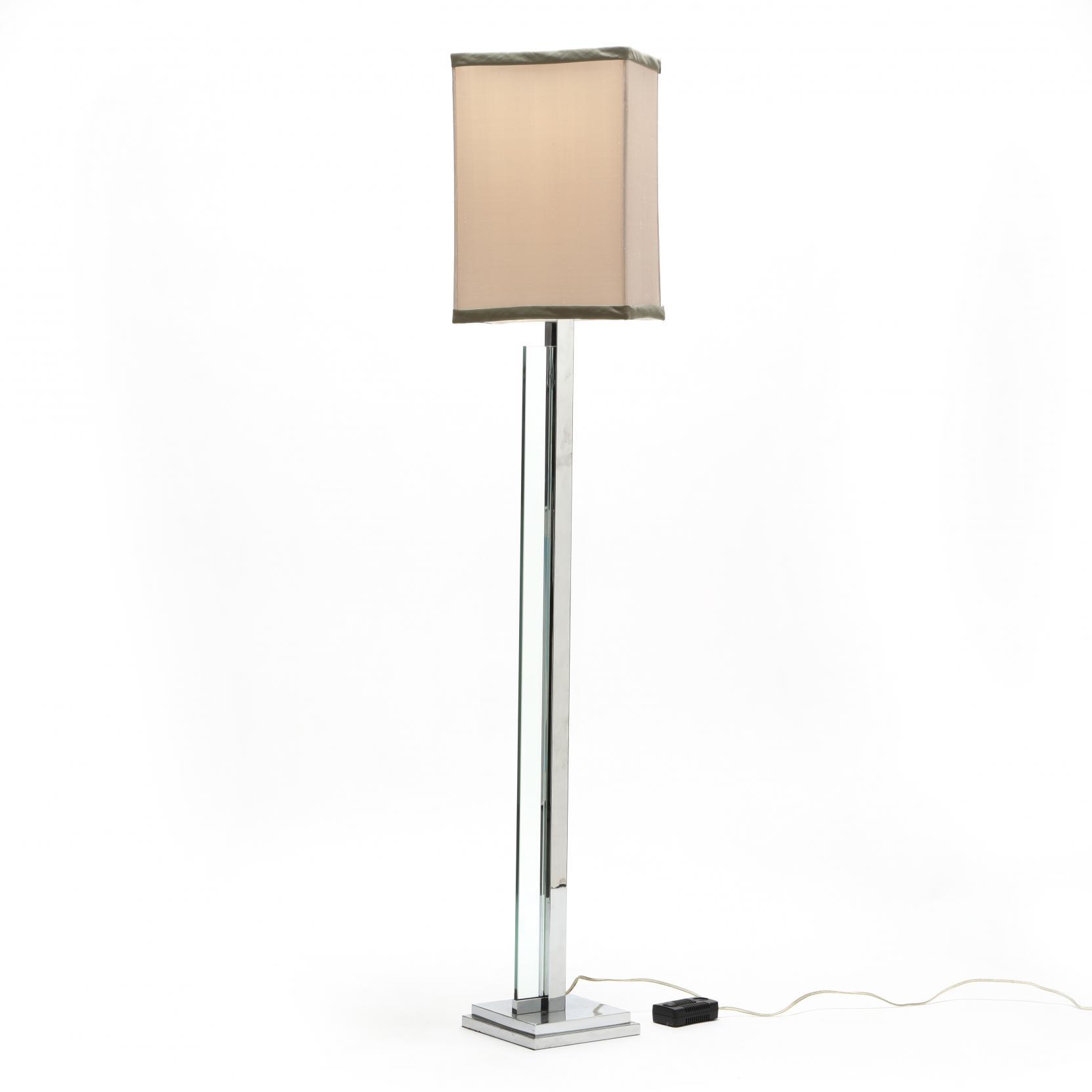 modernist-chrome-and-glass-floor-lamp