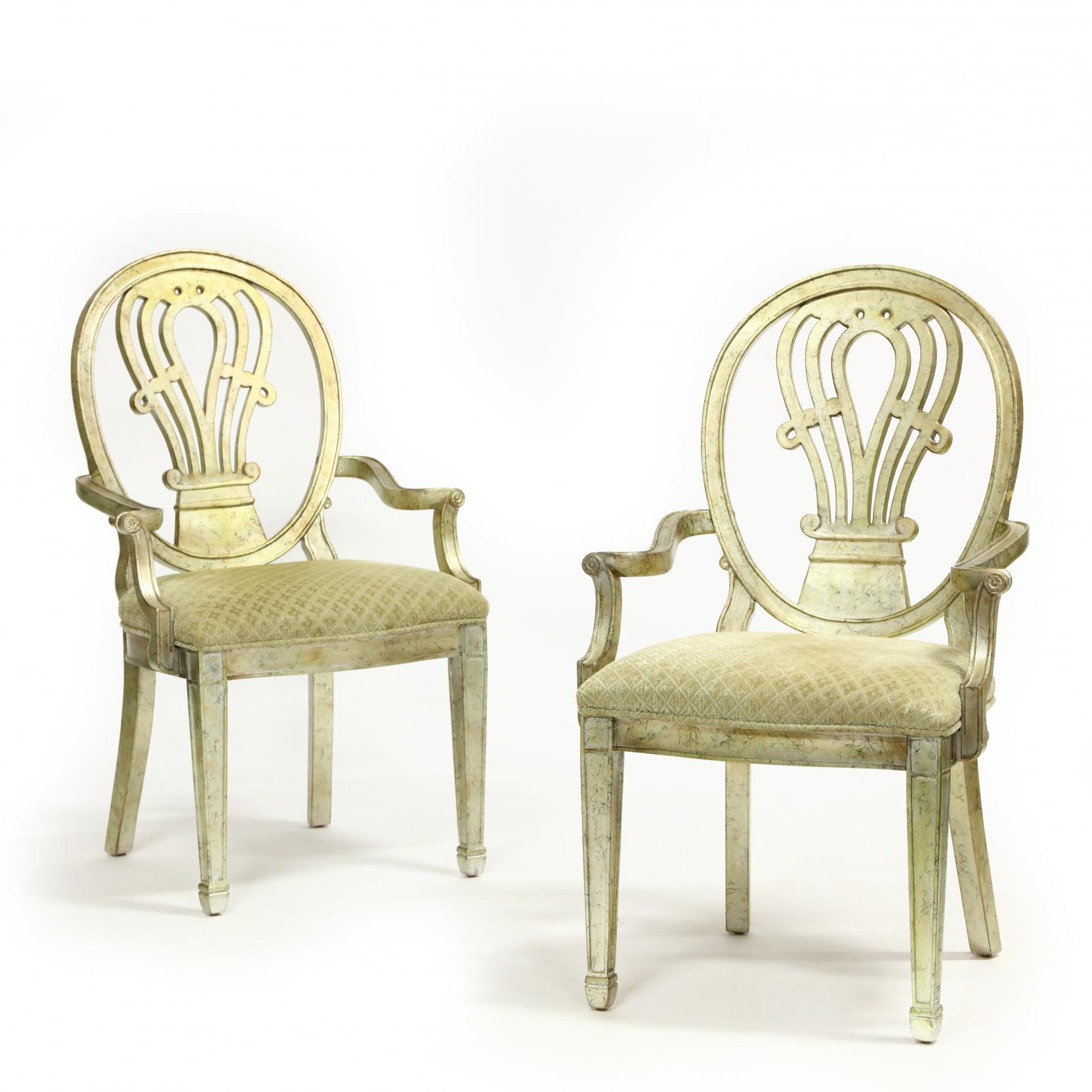 pair-of-silver-leaf-arm-chairs