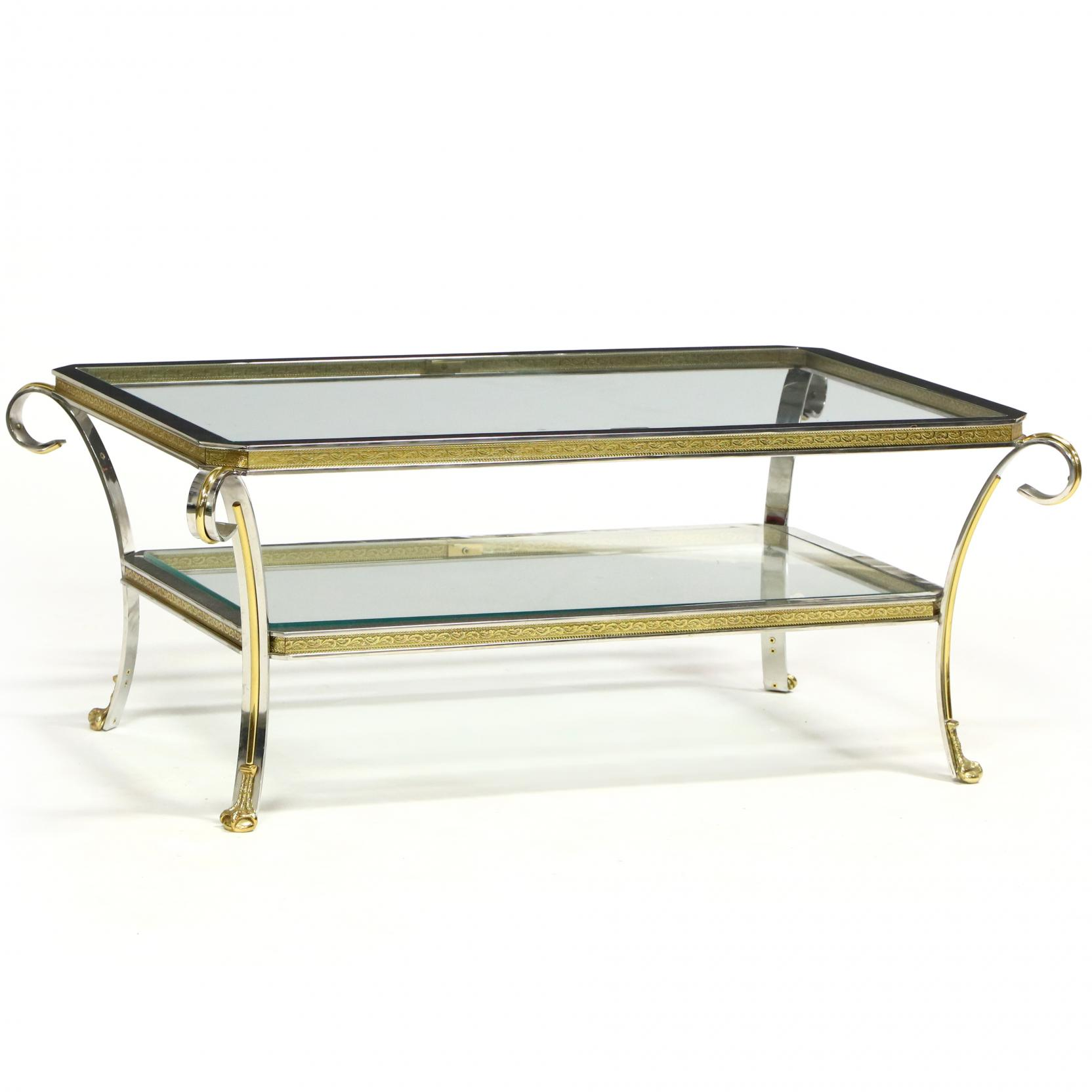 italianate-brass-and-chrome-coffee-table