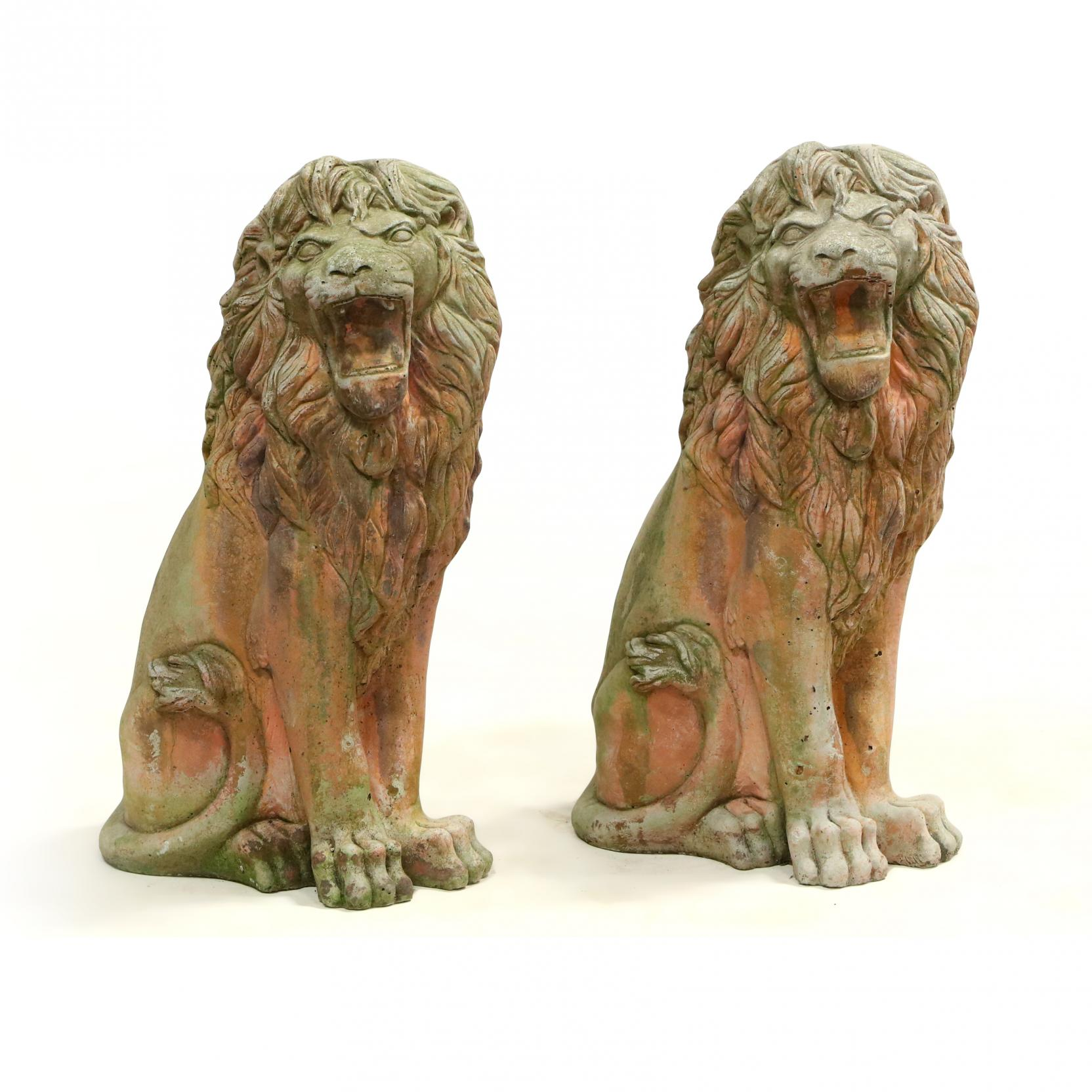 pair-of-cast-stone-seated-lions