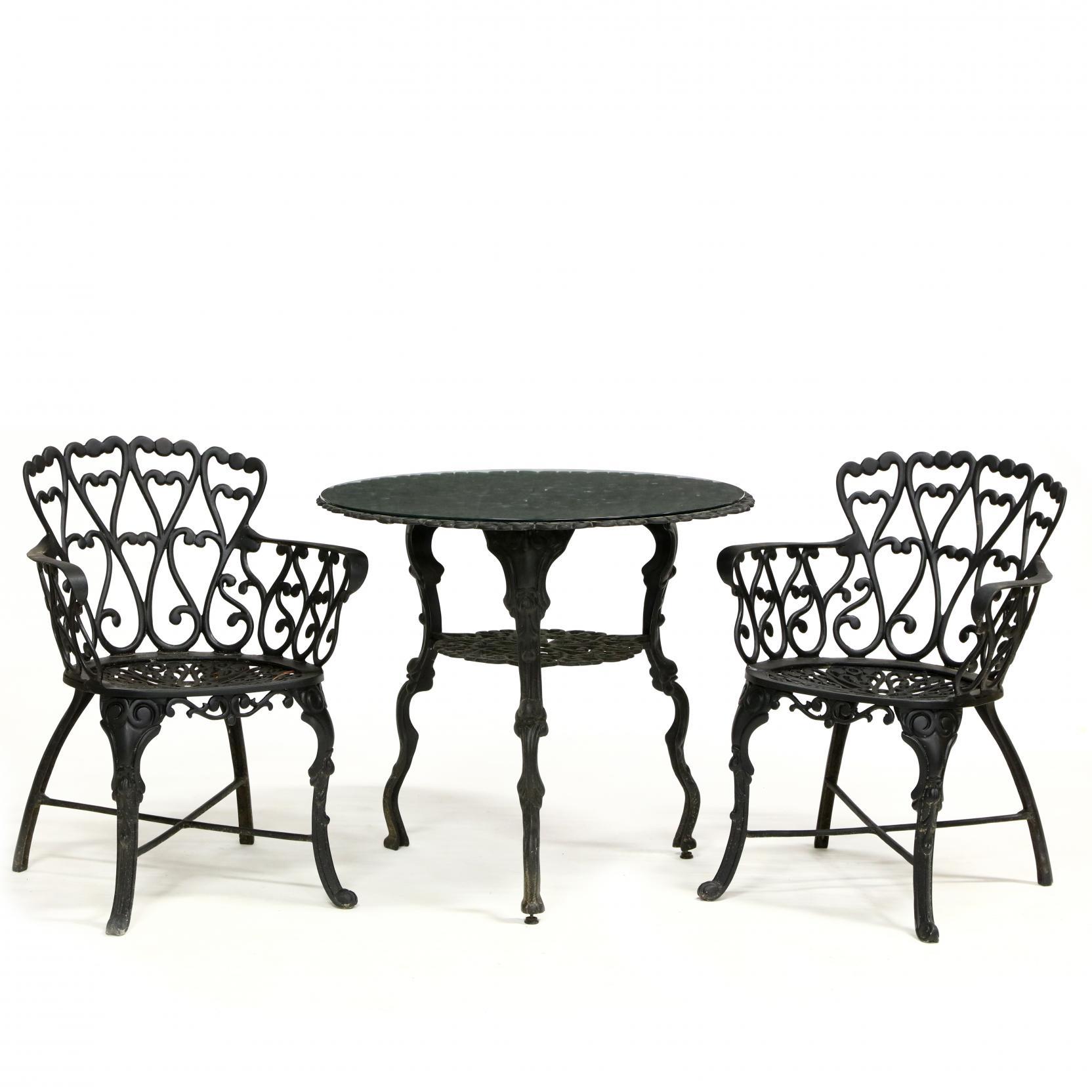 three-piece-cast-aluminum-garden-set