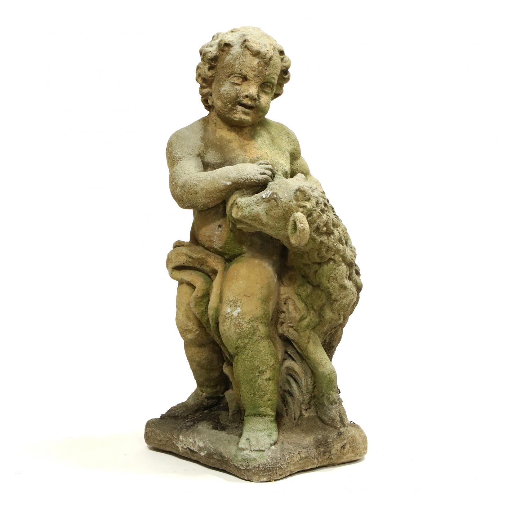 classical-style-cast-stone-figure-of-a-shepherd-boy