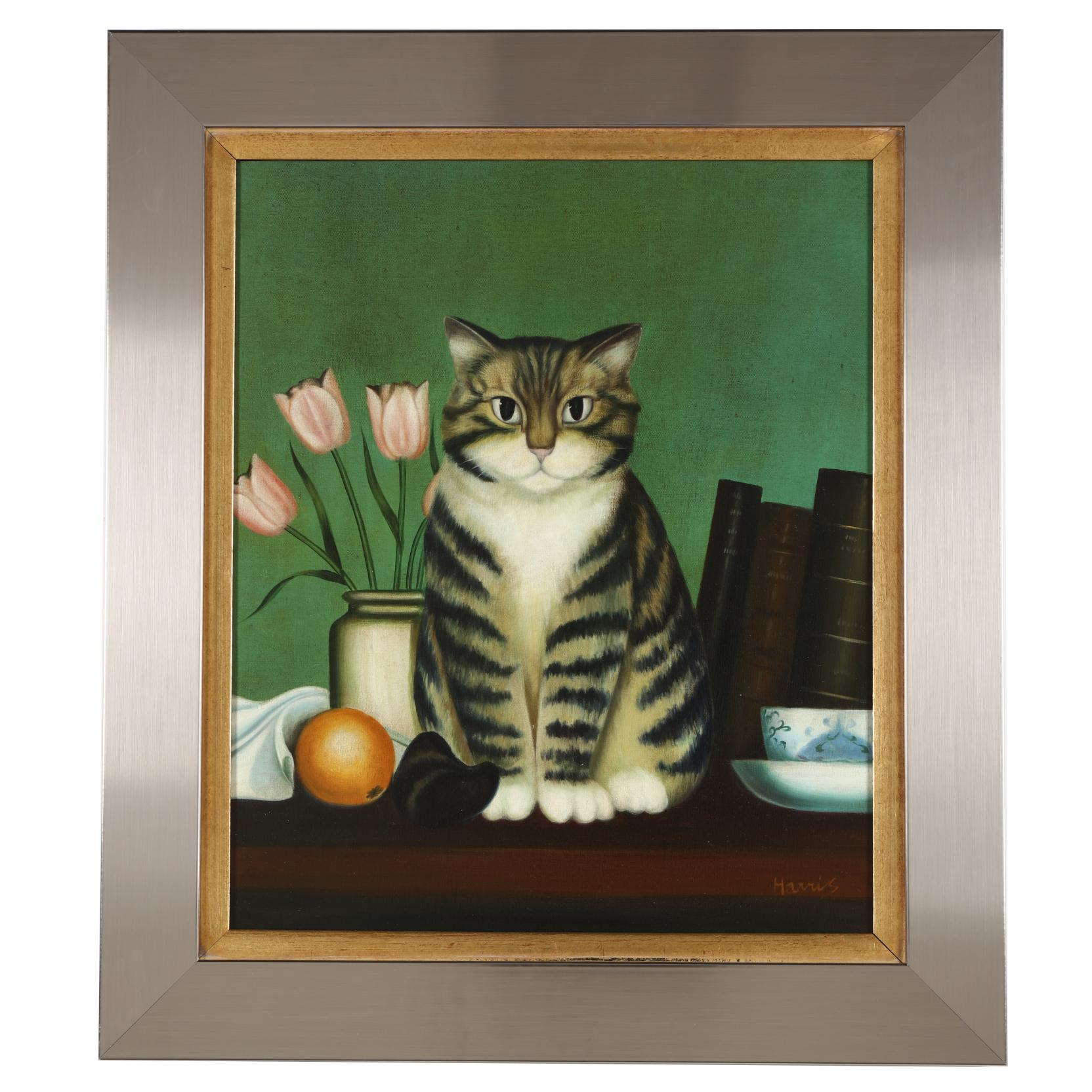 framed-portrait-of-a-tabby-cat