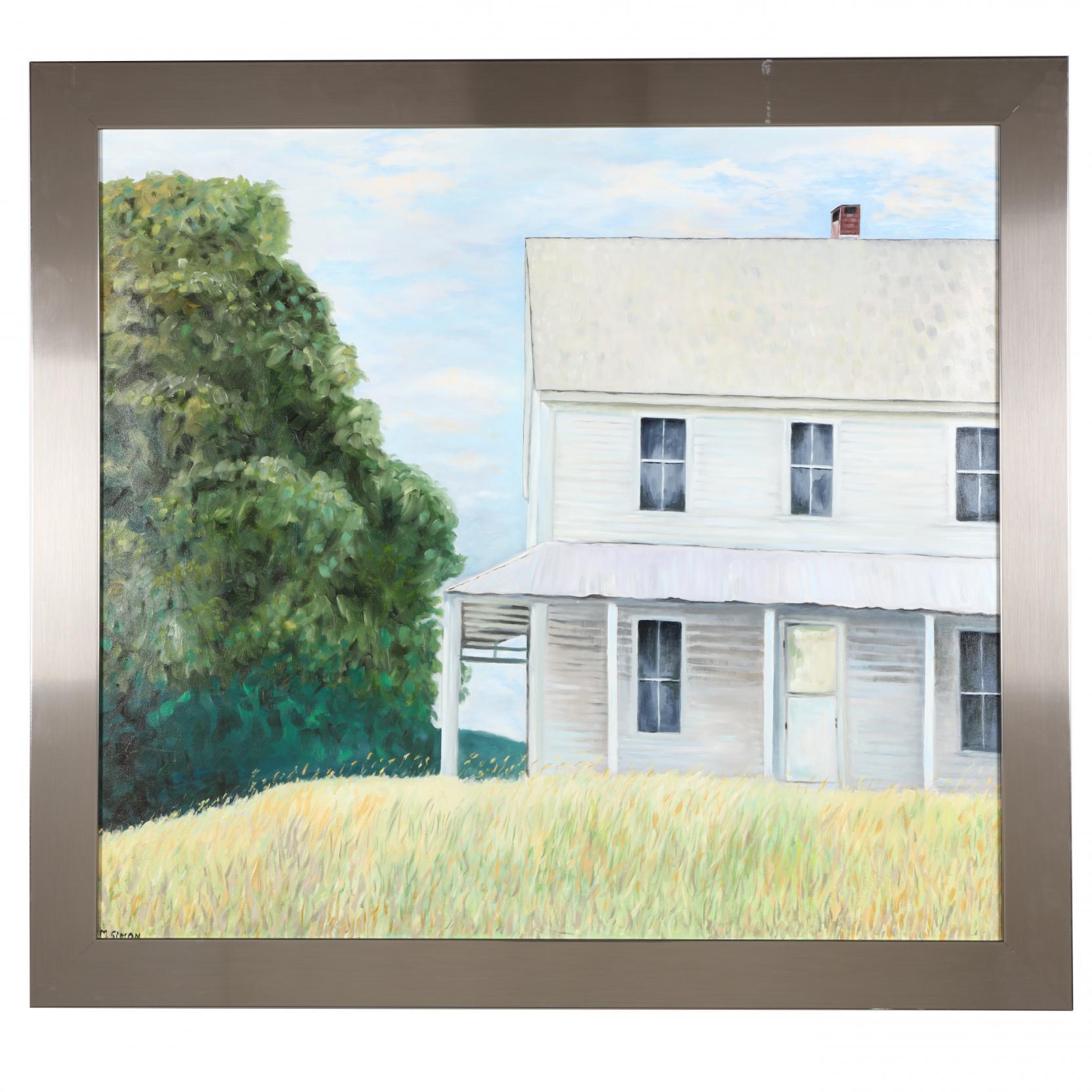 mark-simon-20th-c-view-of-a-farmhouse
