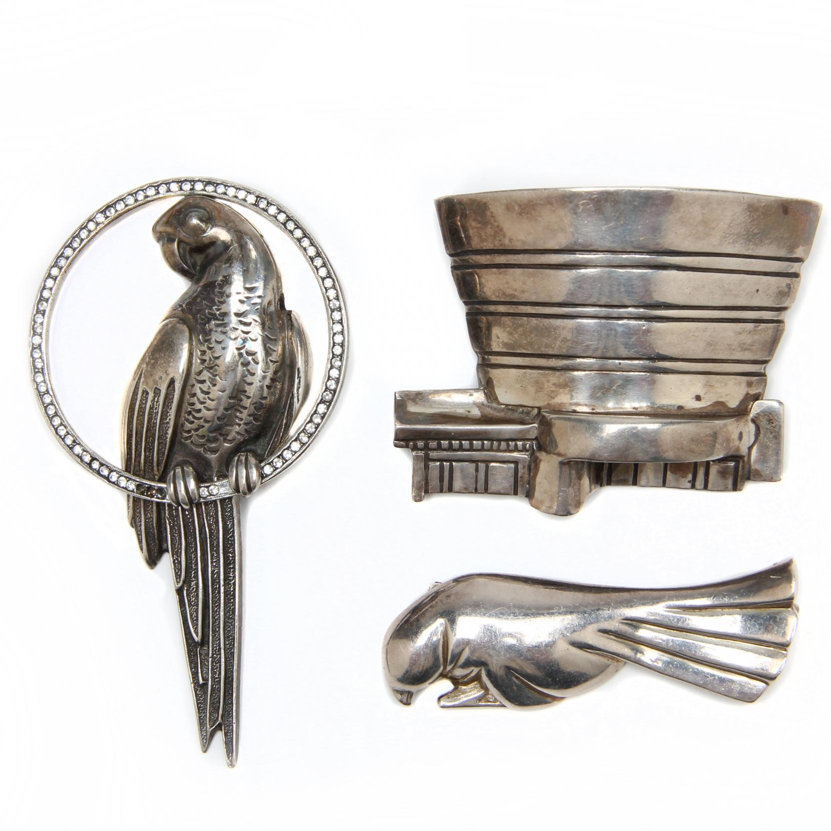three-sterling-silver-brooches