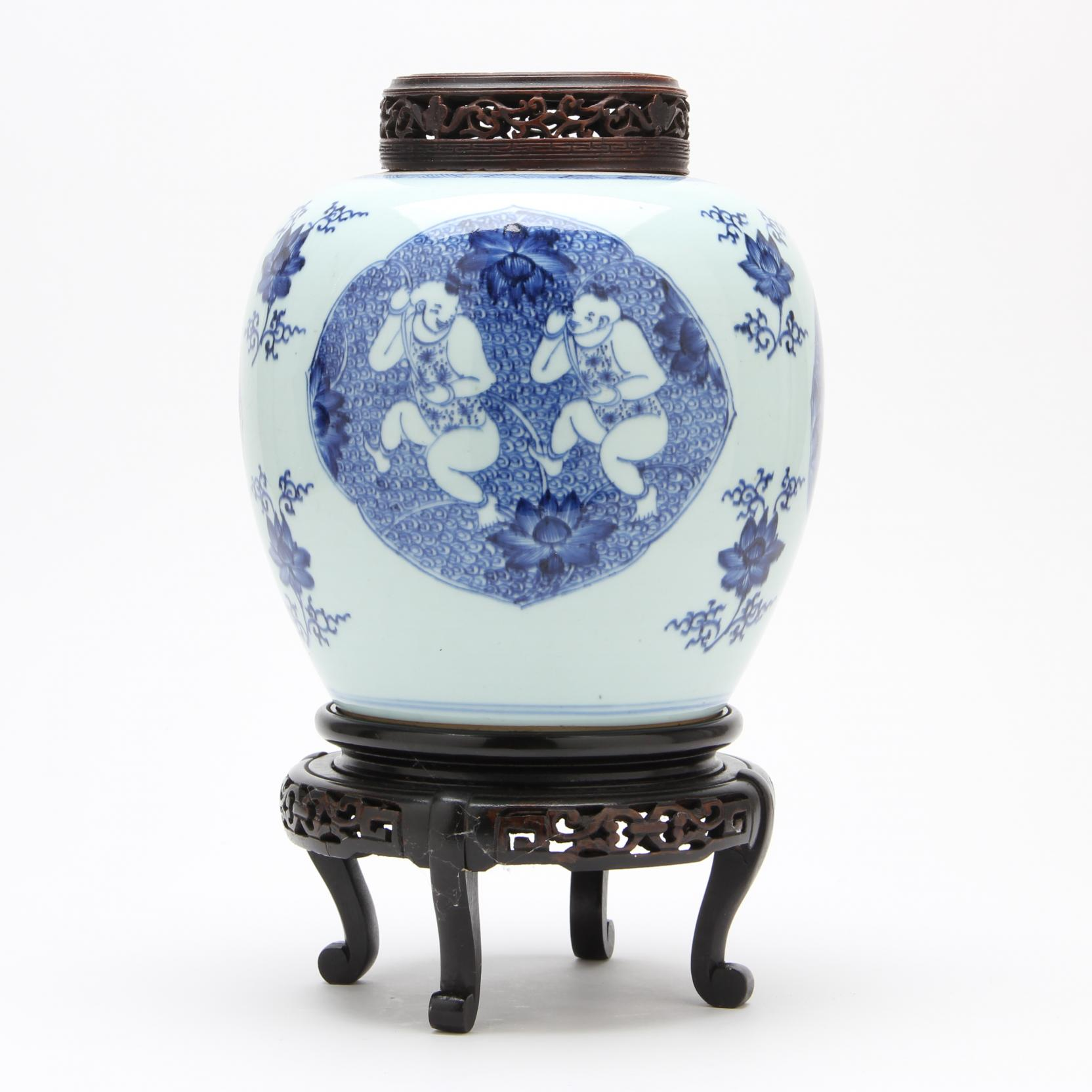 a-chinese-blue-and-white-ginger-jar