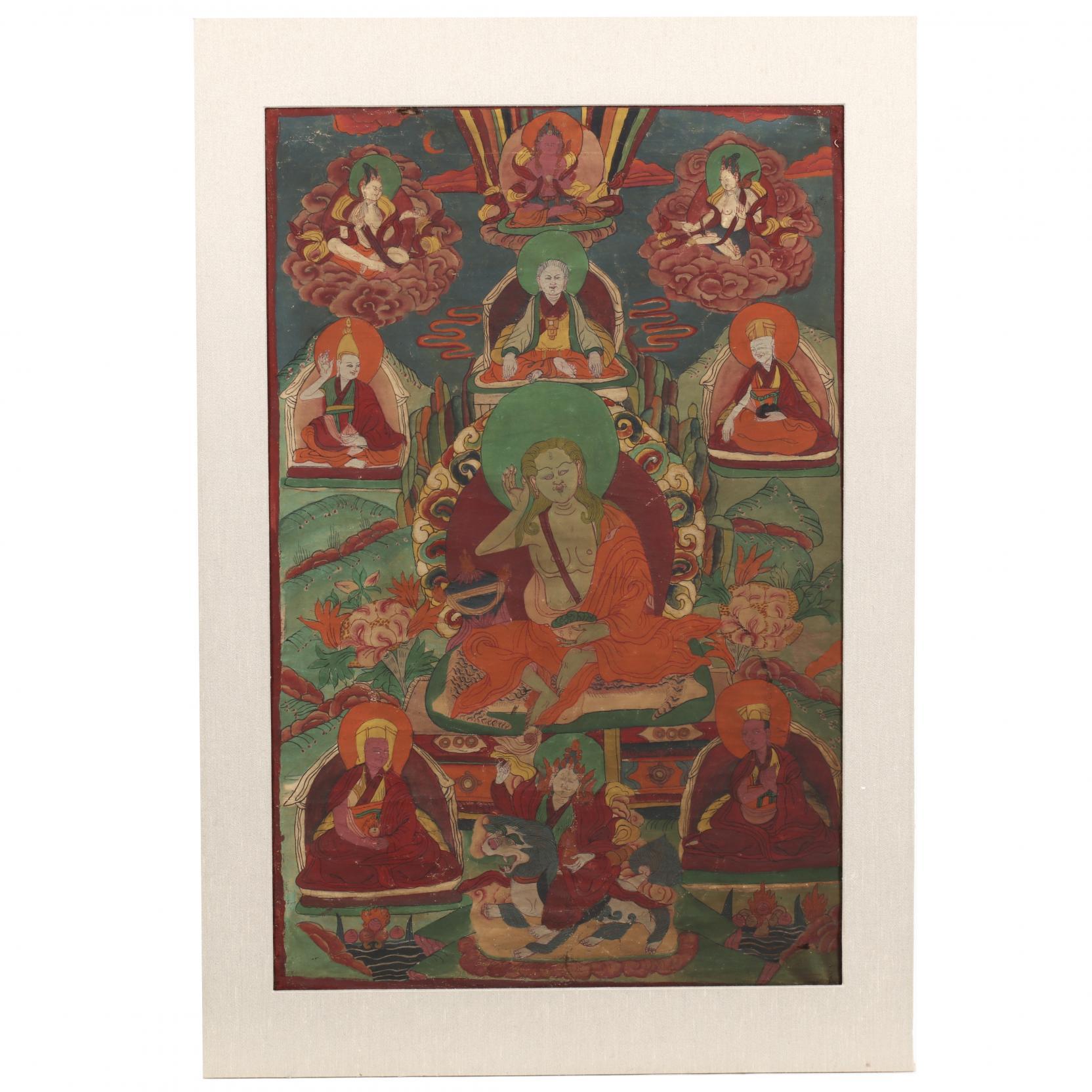 a-tibetan-or-nepalese-thangka-of-milarepa
