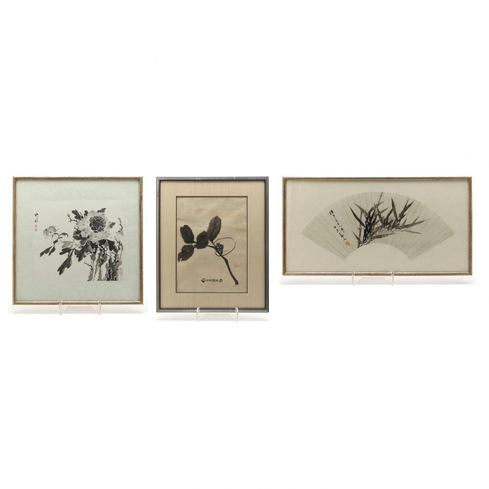 three-asian-ink-paintings
