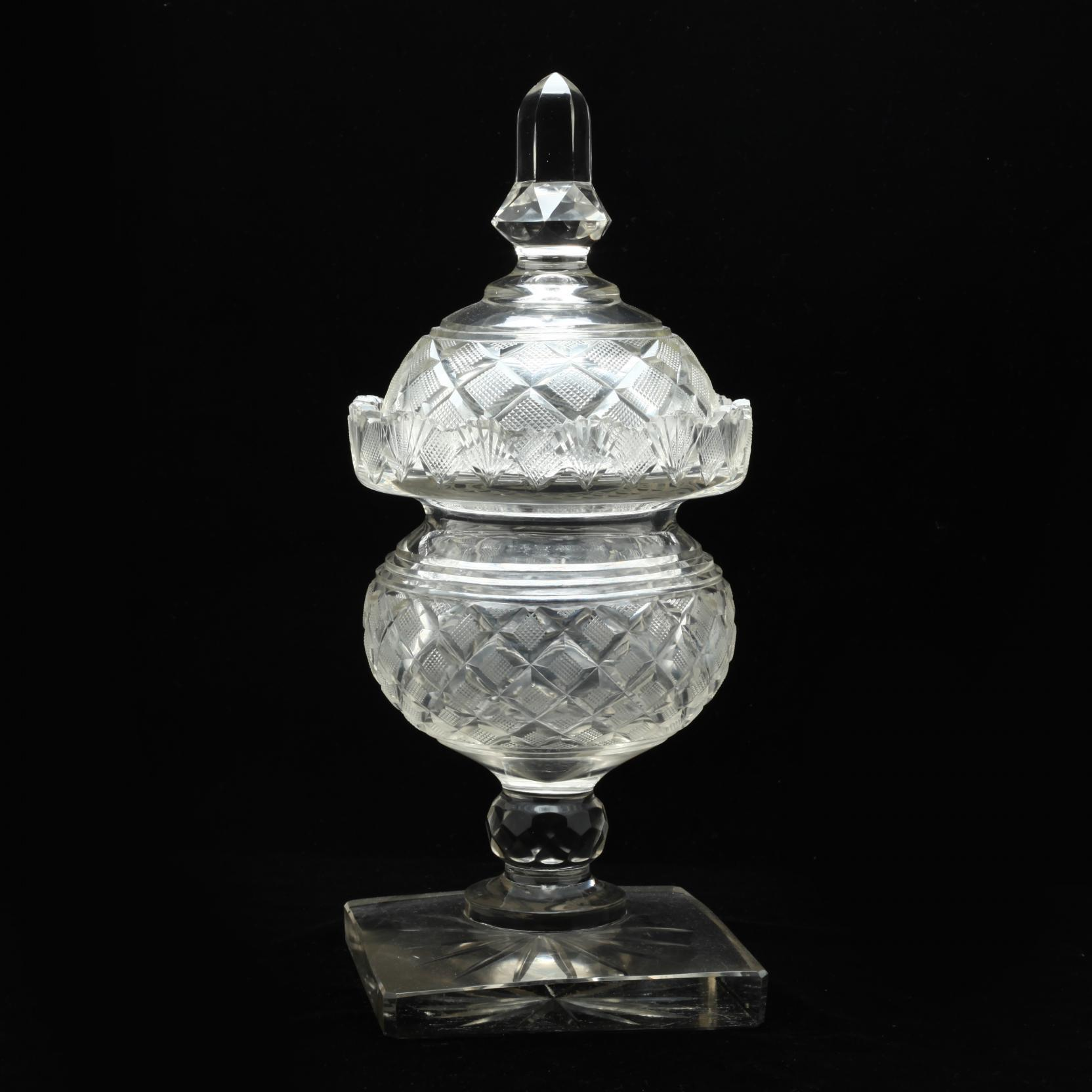 a-georgian-anglo-irish-cut-glass-sweetmeat-urn-and-cover