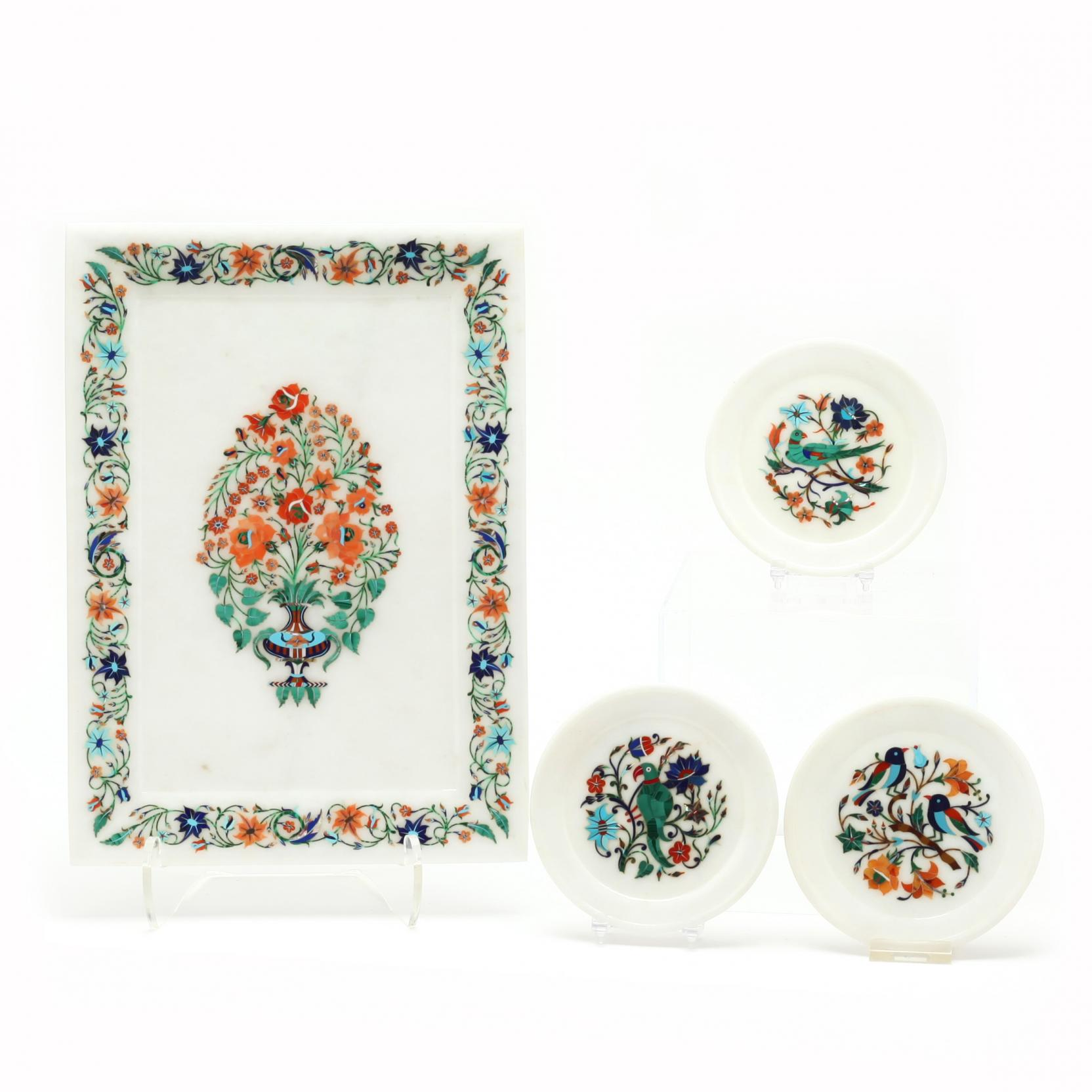 a-group-of-indian-marquetry-floral-makrana-marble-tableware
