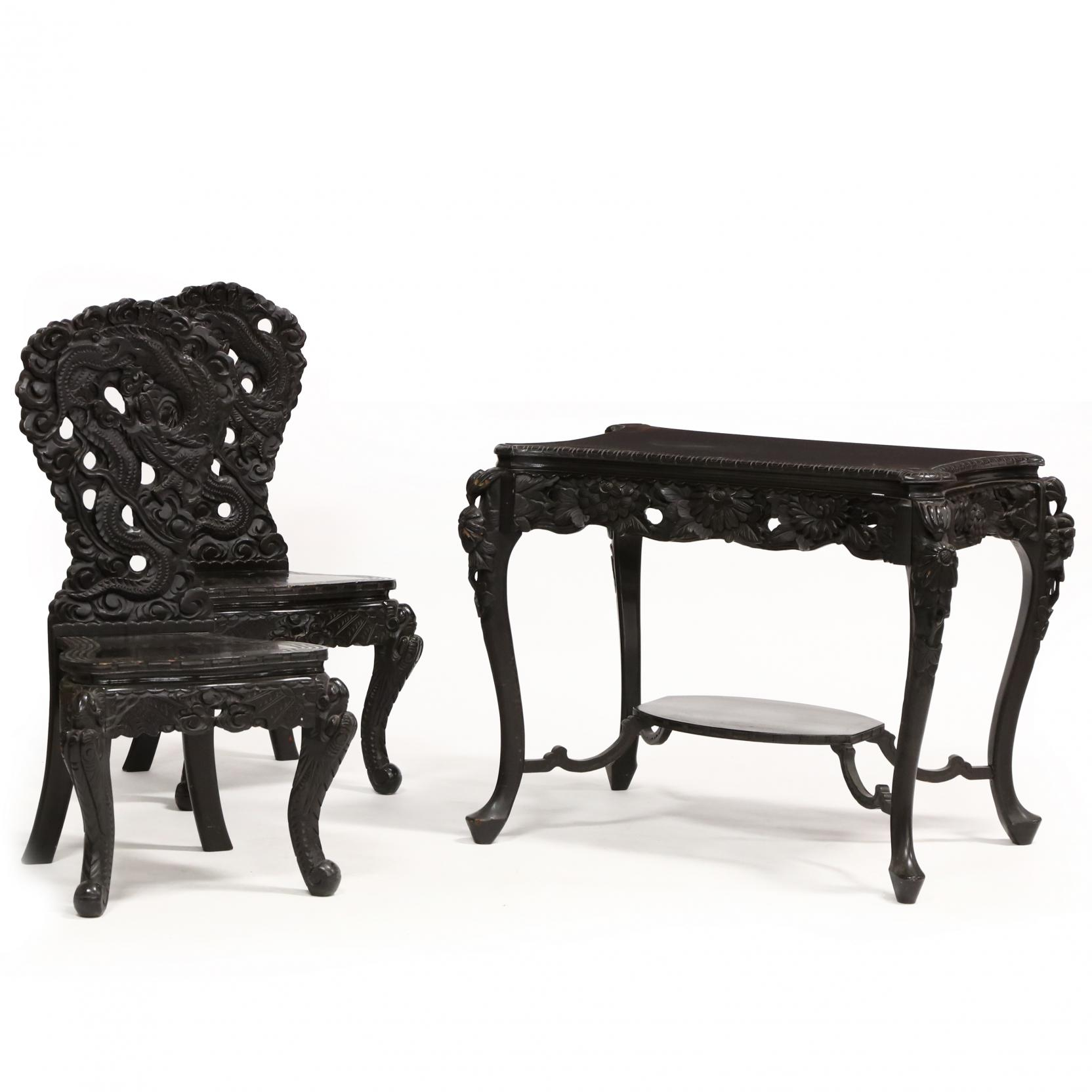 a-set-of-japanese-carved-wooden-dragon-table-and-chairs