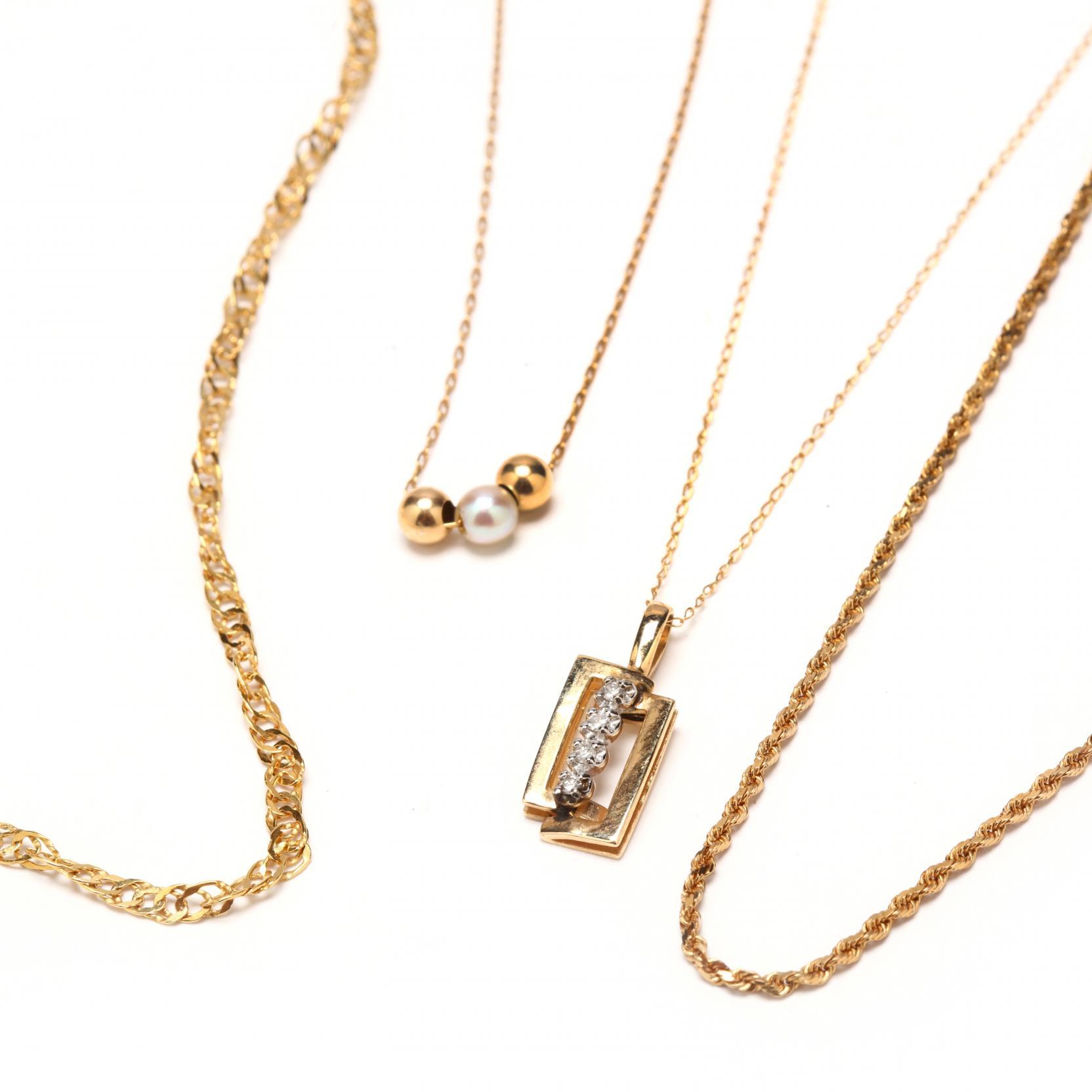 four-14kt-gold-necklaces