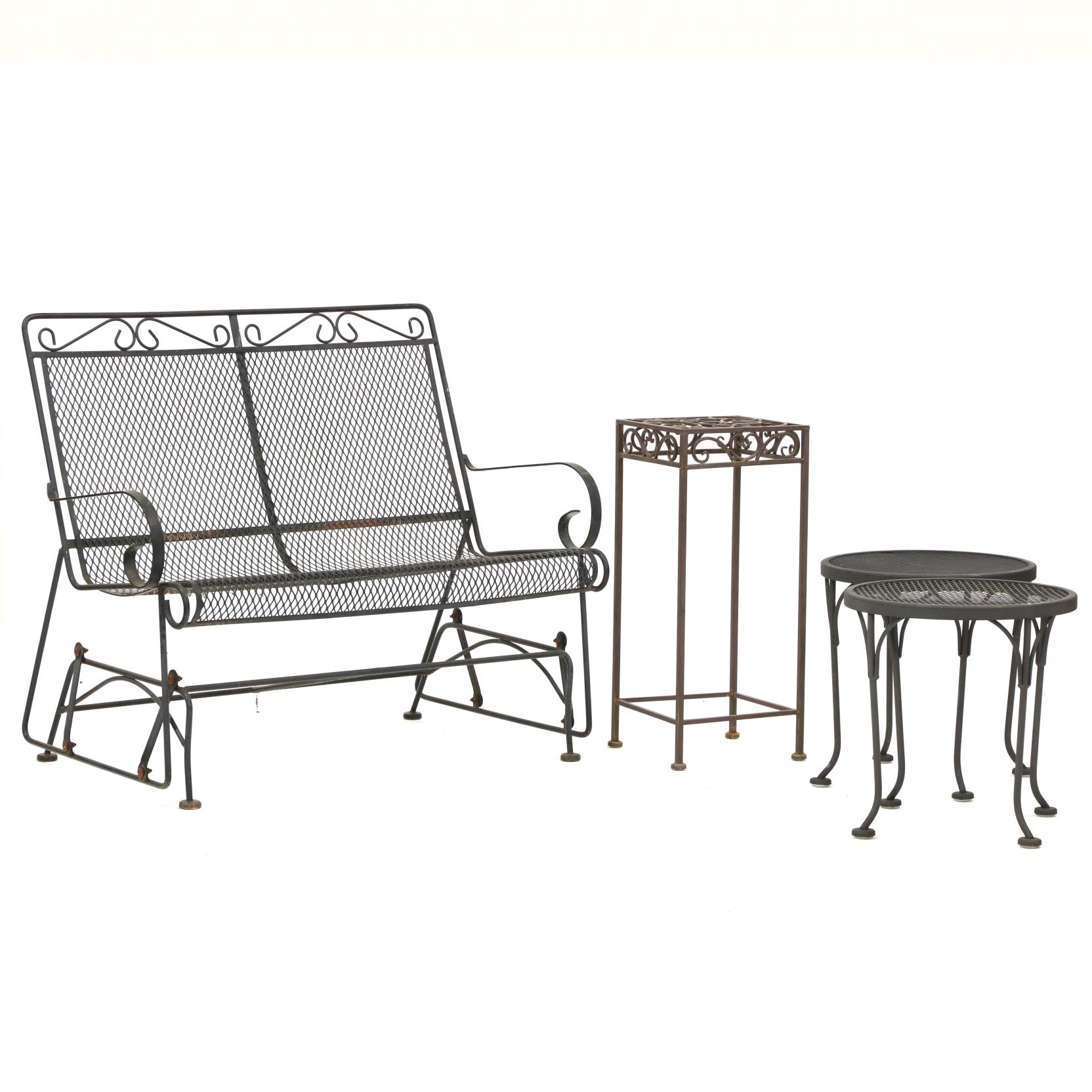 four-pieces-of-iron-patio-furniture