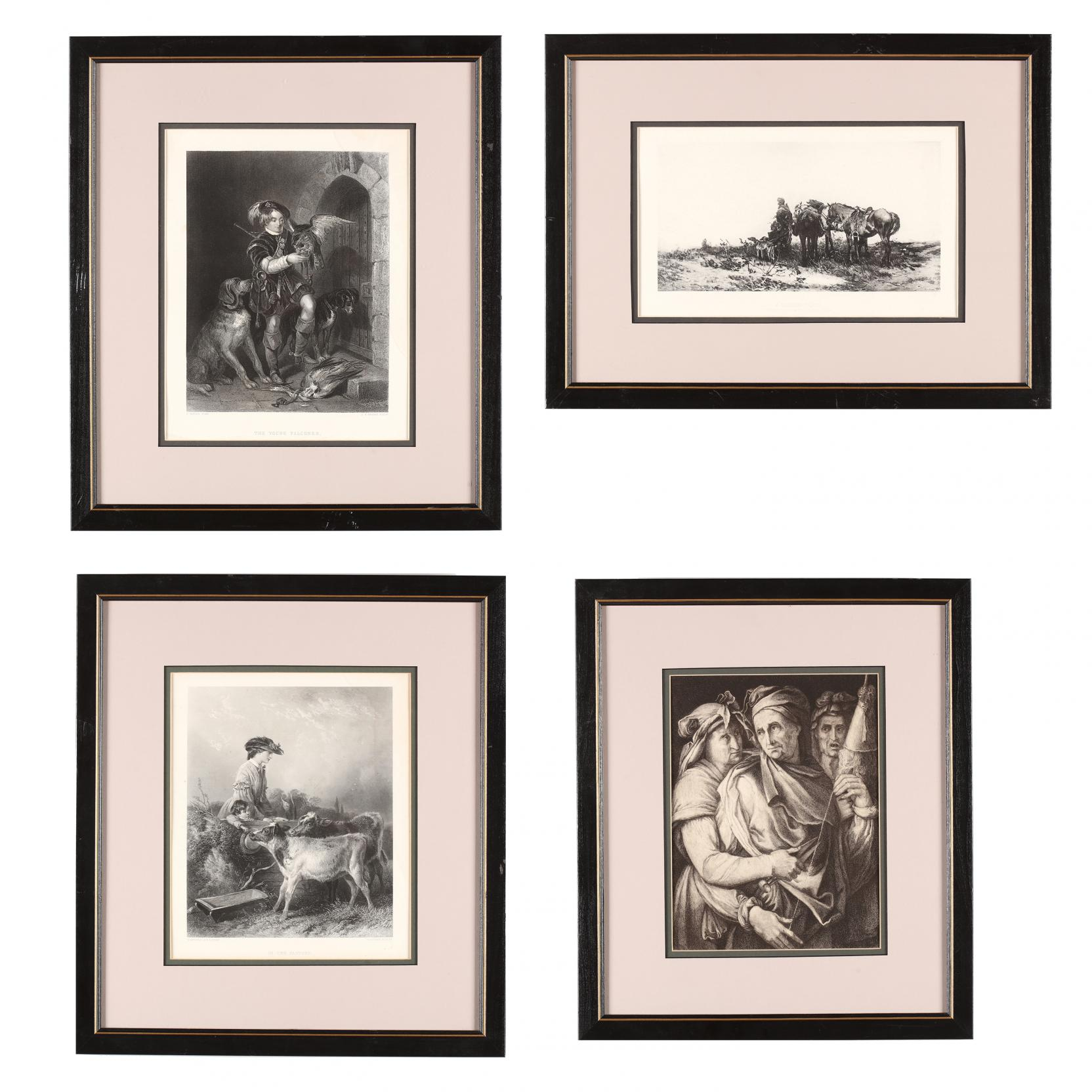 four-antique-framed-prints-after-famous-paintings