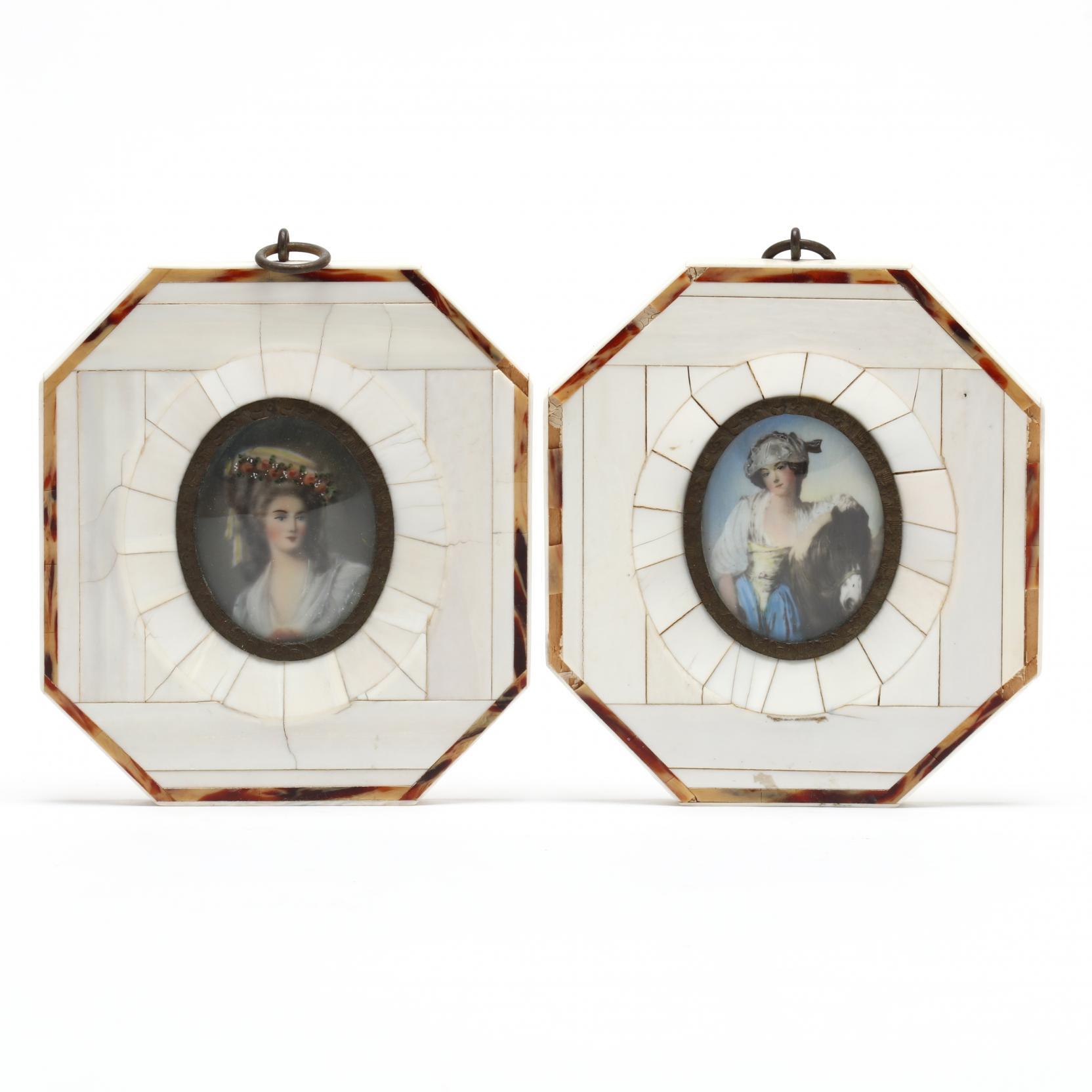 a-pair-of-18th-century-style-portrait-miniatures