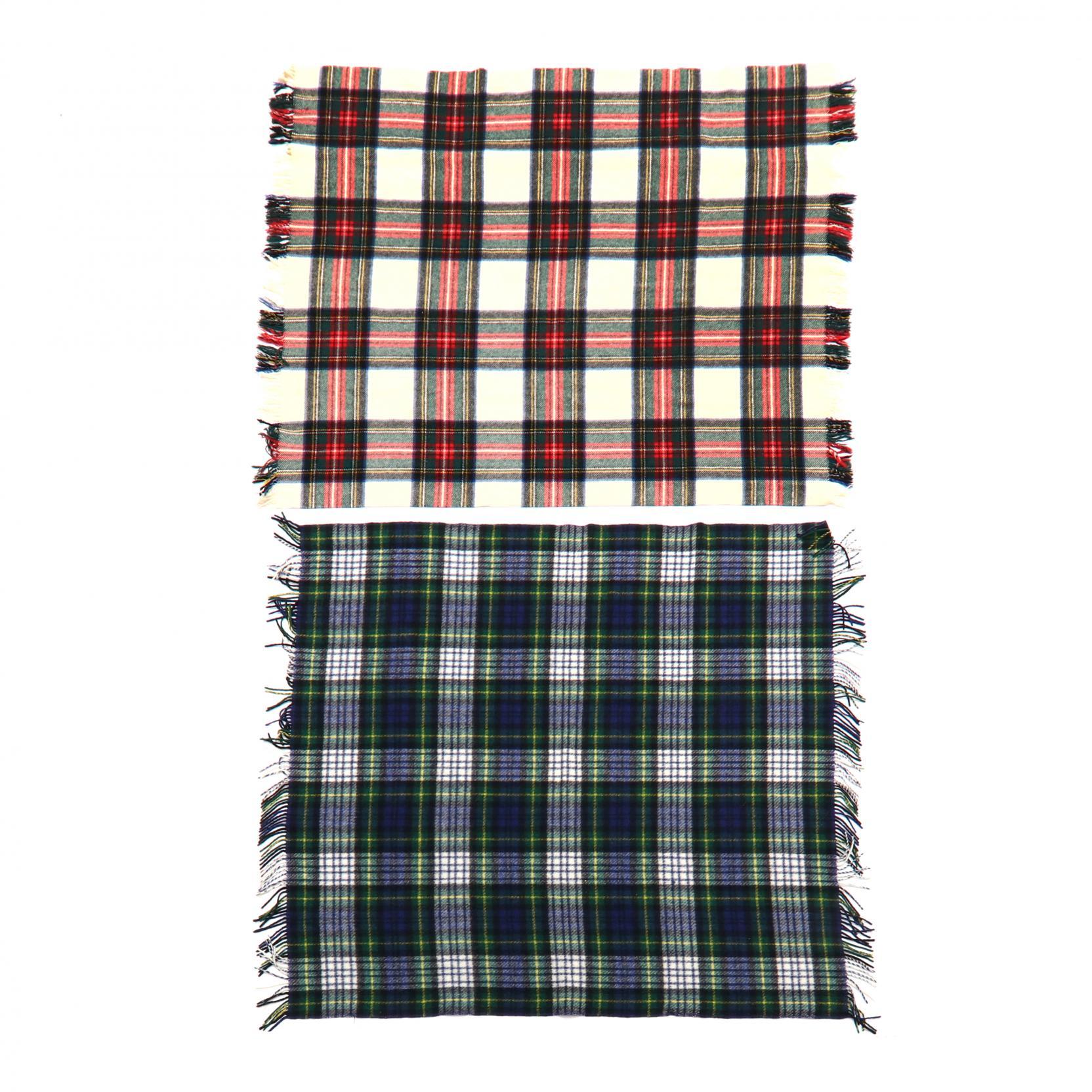 two-vintage-plaid-wool-blankets