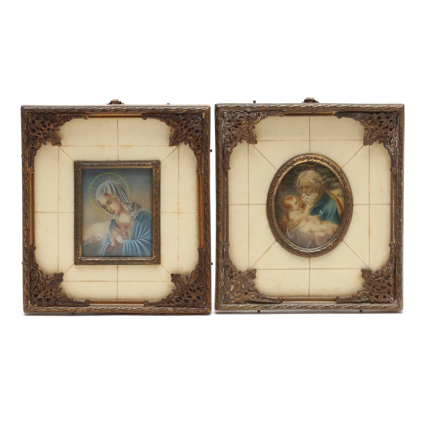 vintage-pair-of-decorative-portrait-miniatures