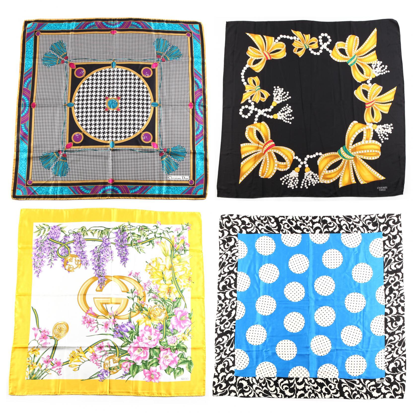 a-group-of-four-designer-silk-scarves
