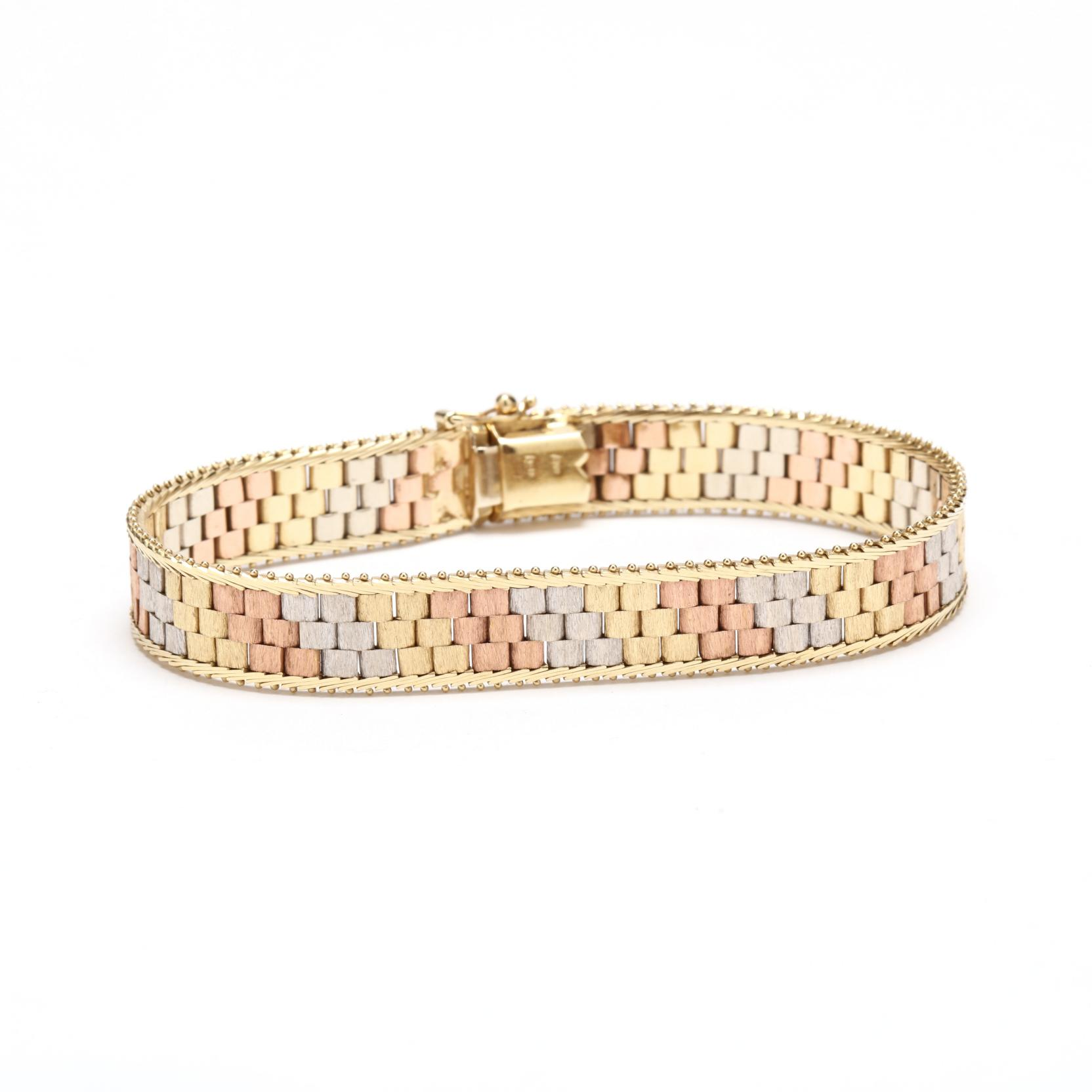 14kt-tri-color-gold-bracelet-italy