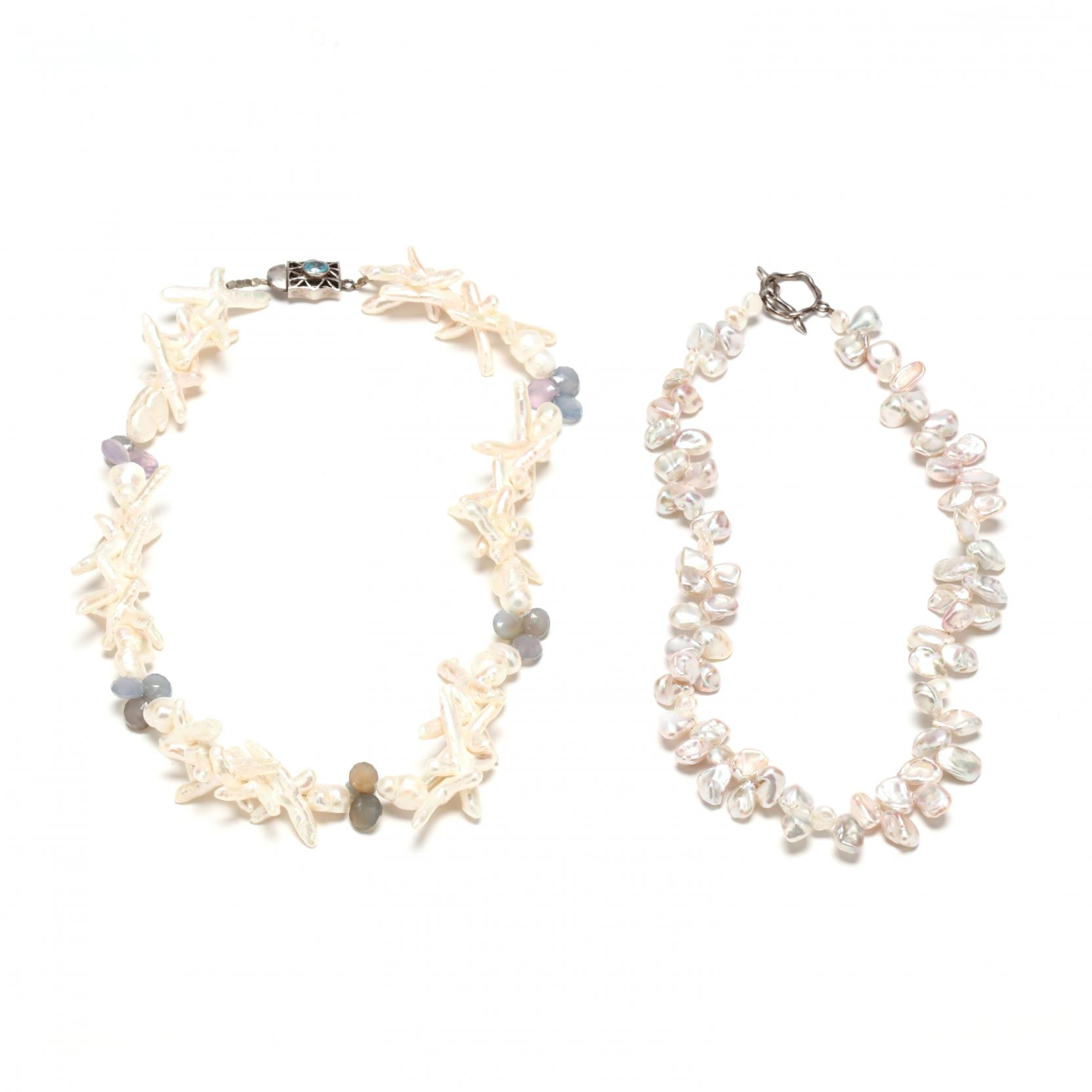 two-keshi-pearl-necklaces