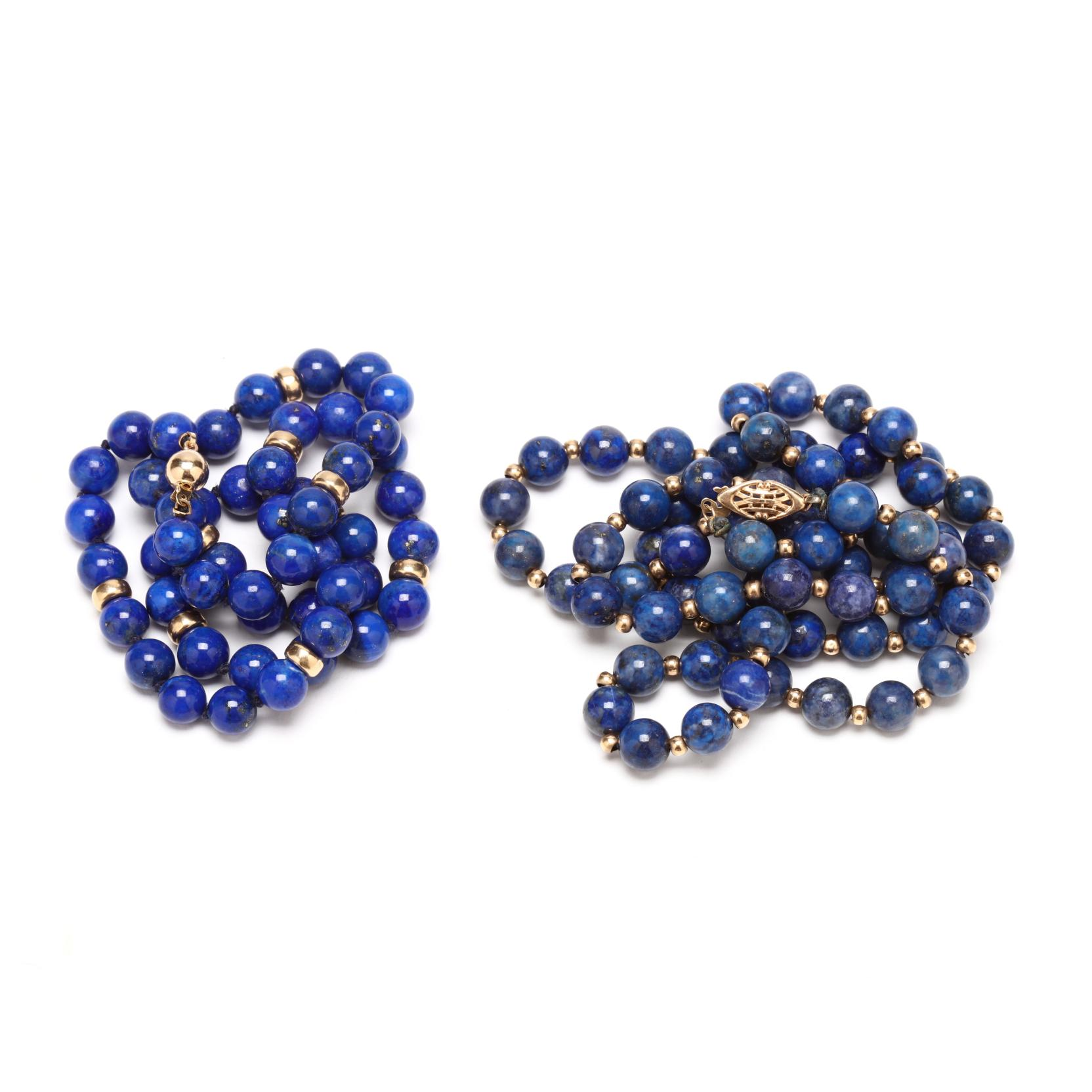 two-lapis-lazuli-bead-necklaces