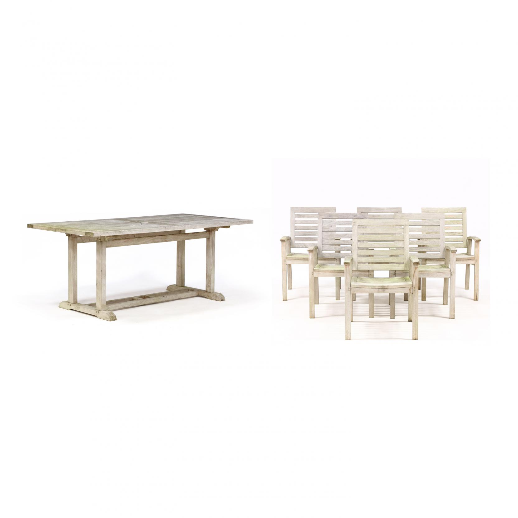 gloster-teak-dining-table-and-six-chairs