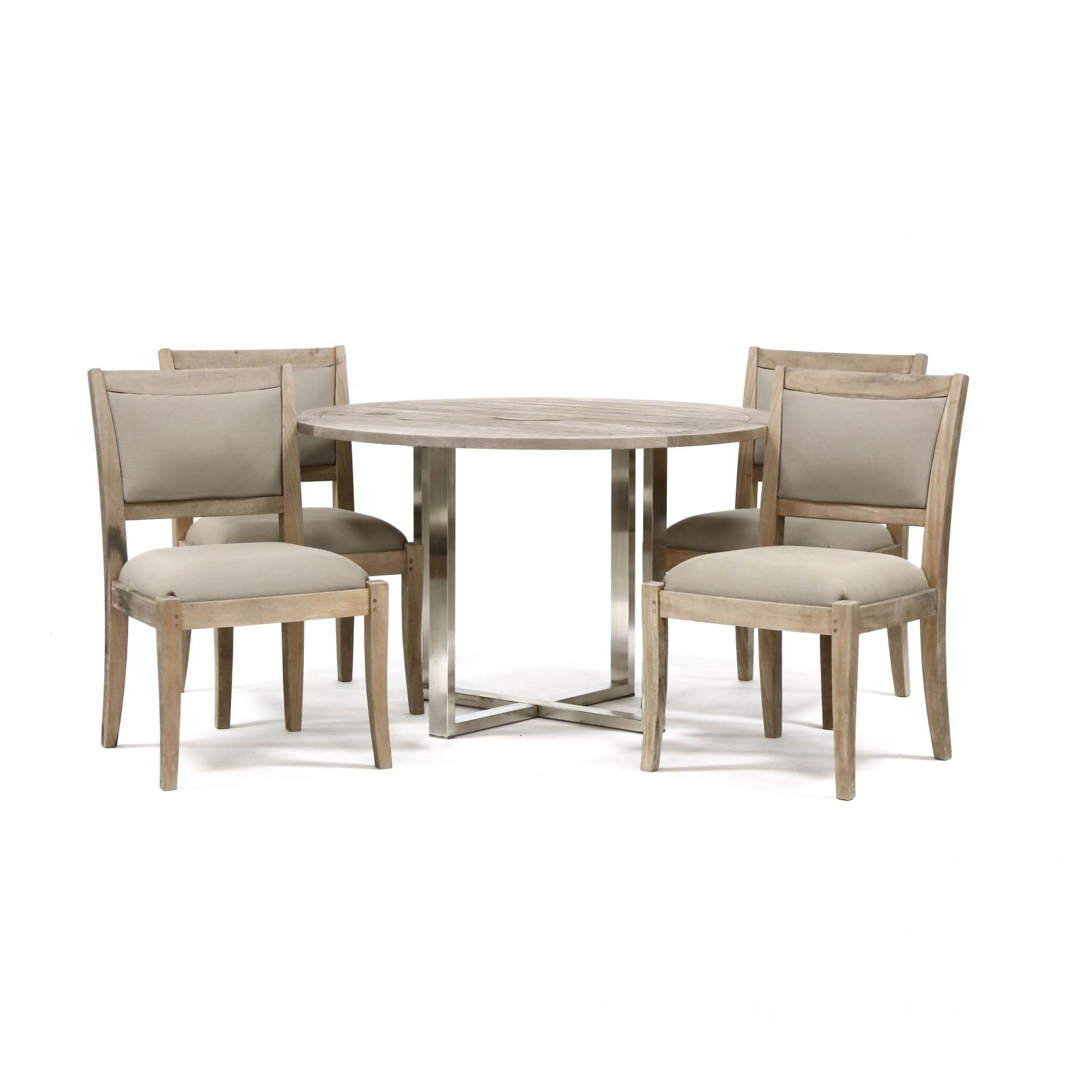 kingsley-bate-teak-table-and-four-chairs