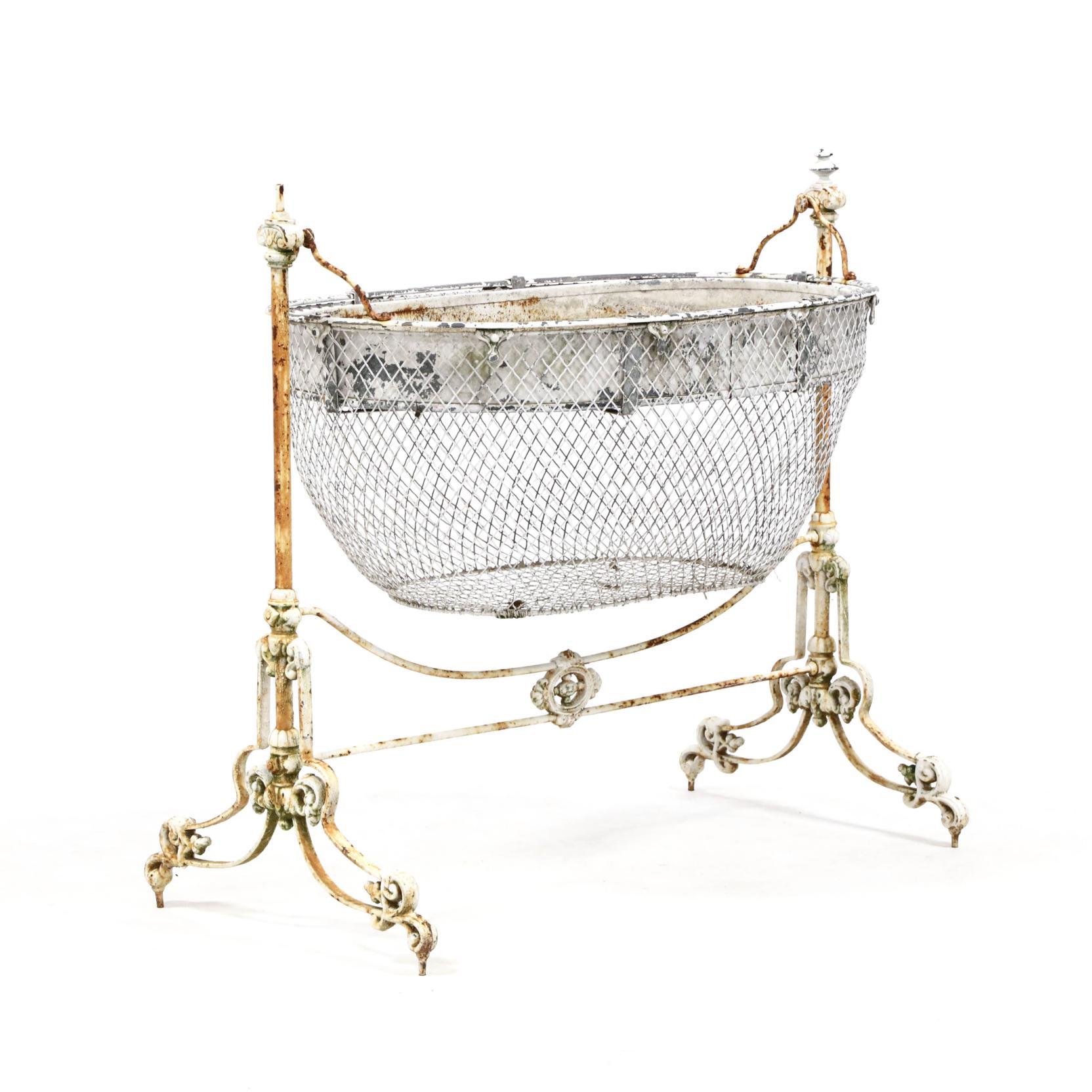 victorian-cast-iron-bassinet