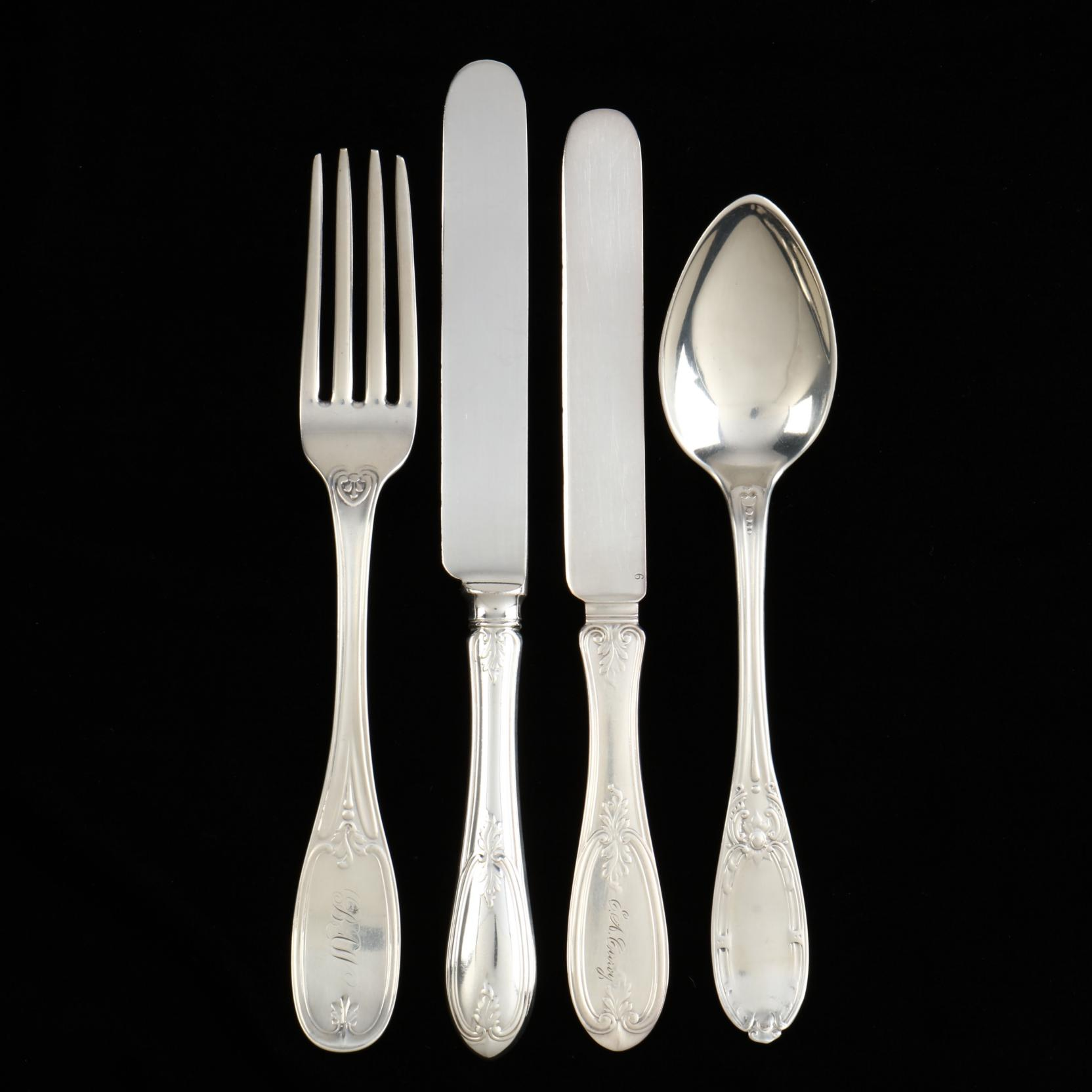 a-group-of-american-coin-silver-silverplate-flatware
