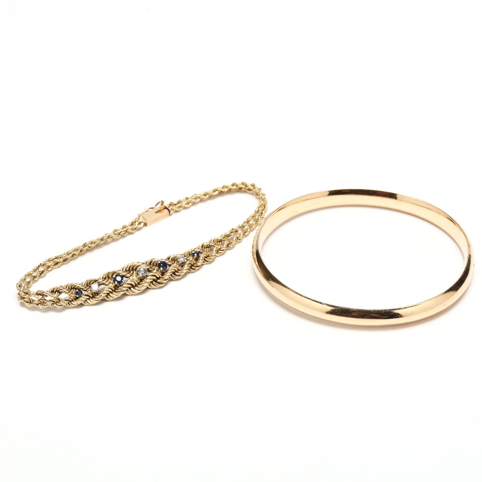 two-14kt-gold-bracelets