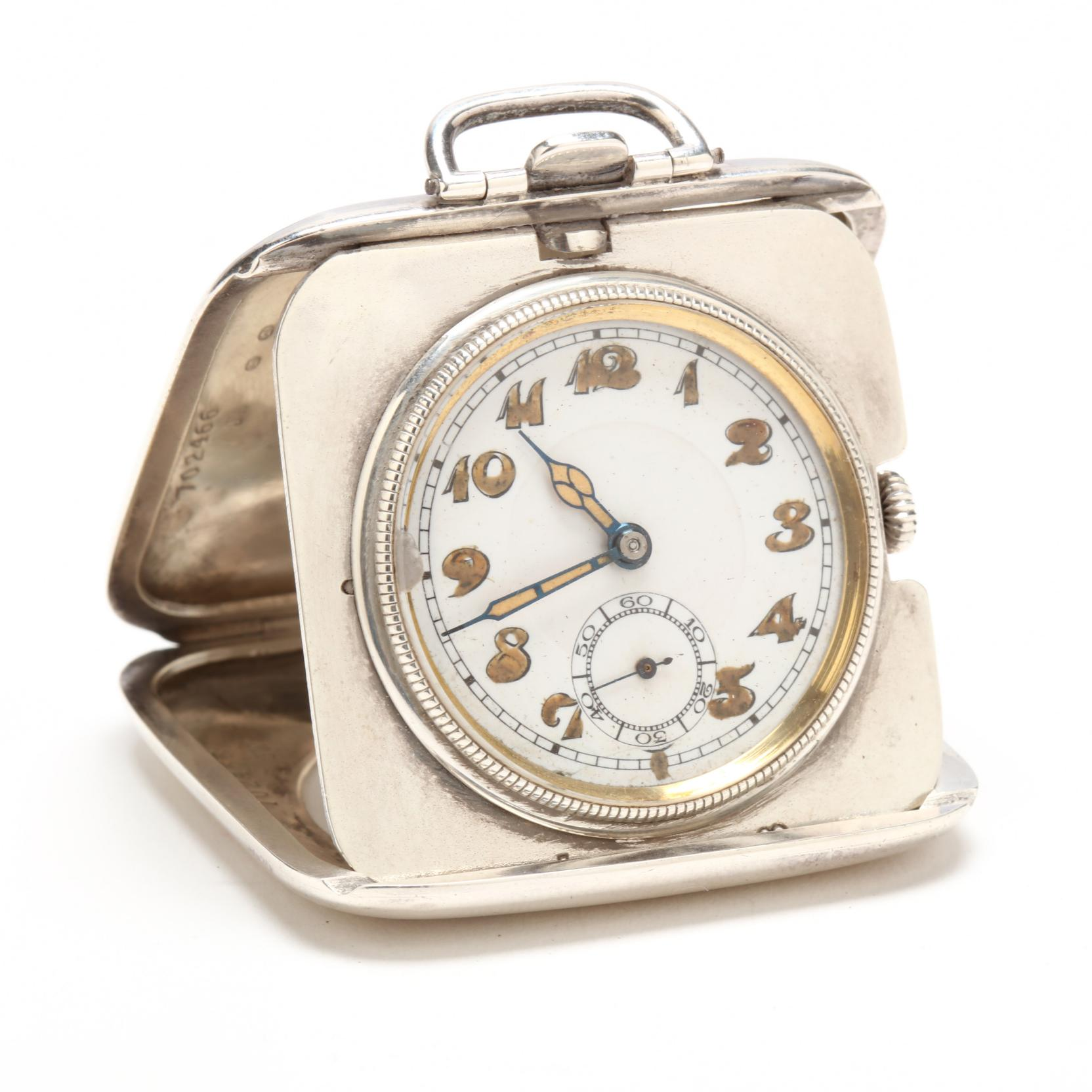 antique-sterling-silver-cased-travel-clock