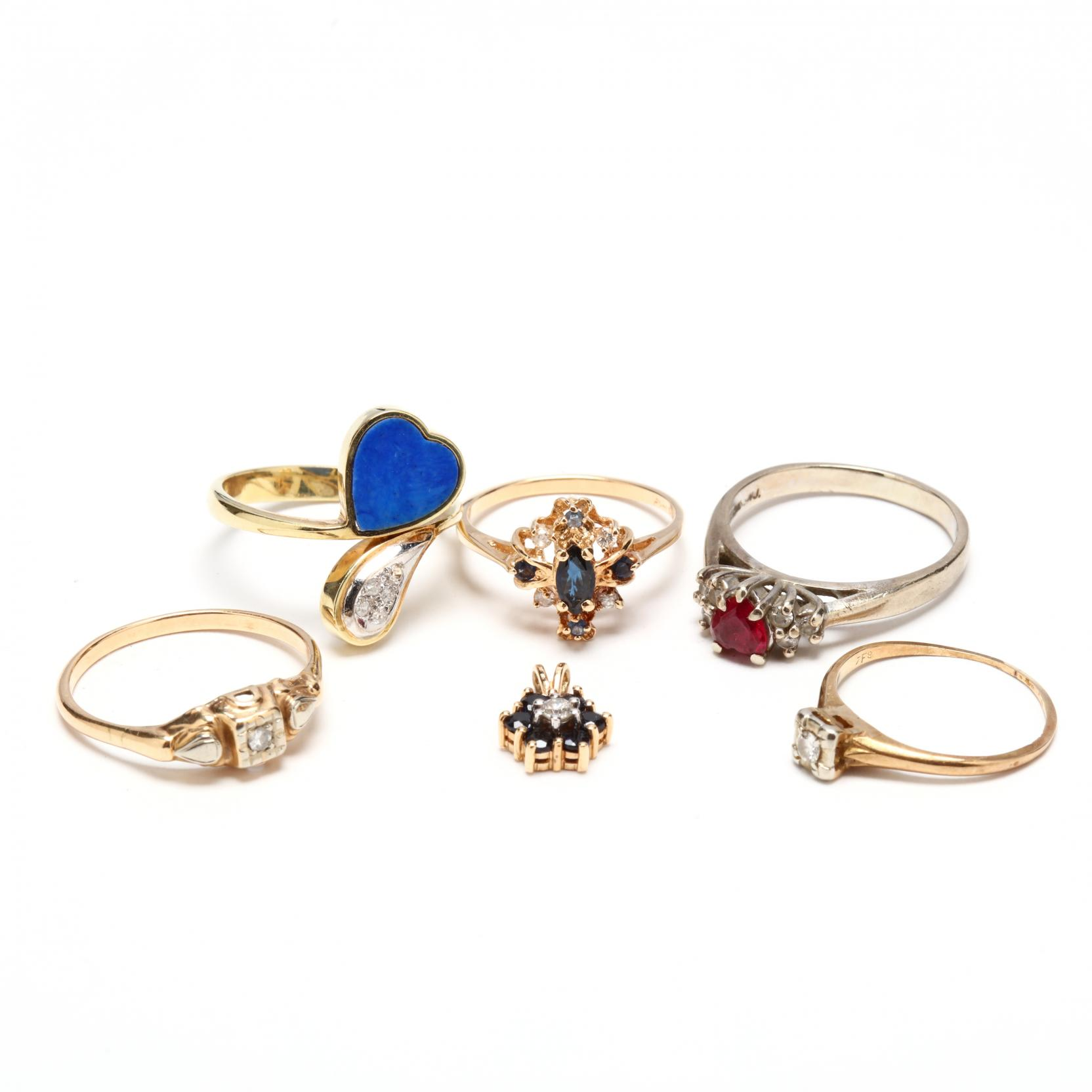 group-of-14kt-gold-and-gem-set-jewelry