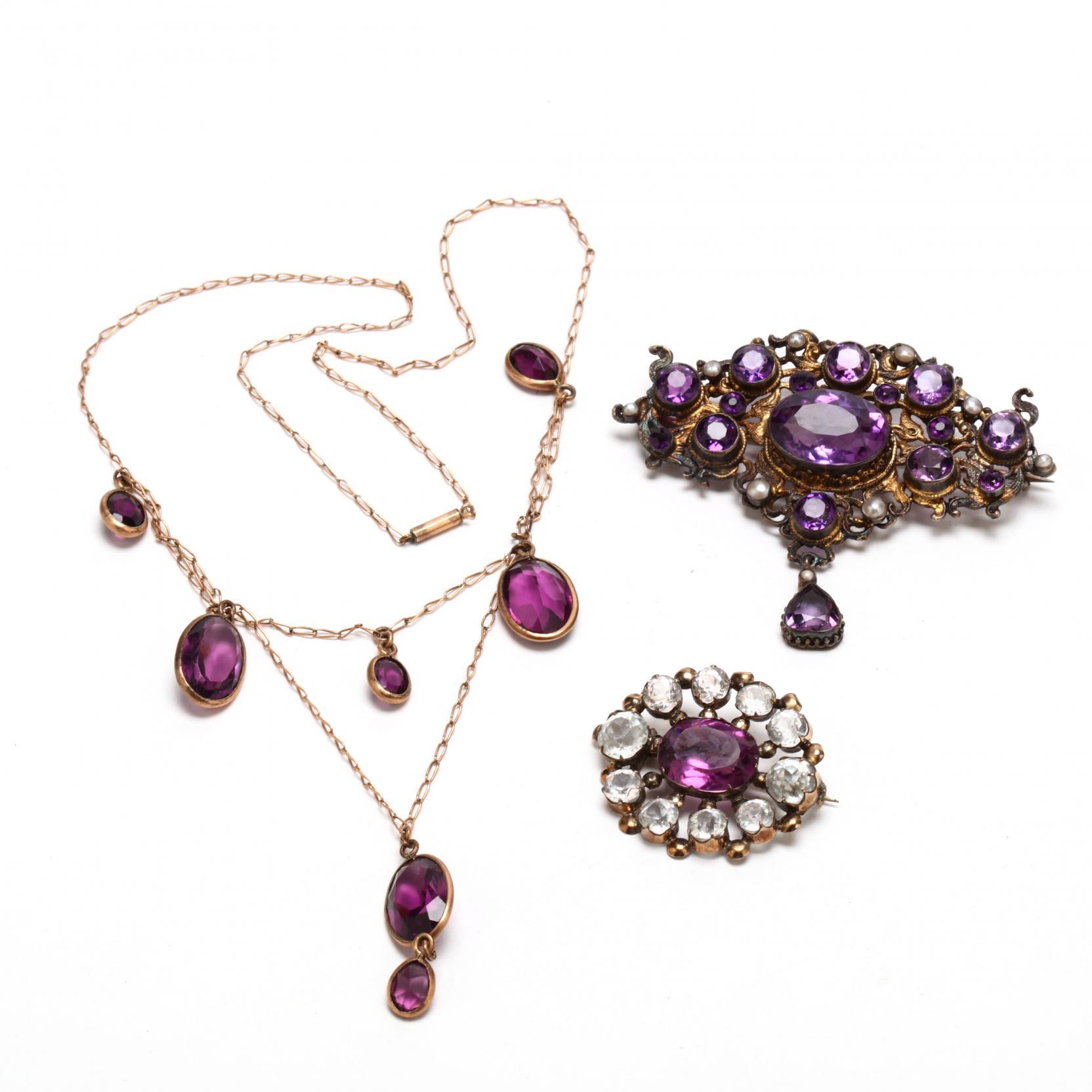 victorian-faux-amethyst-jewelry