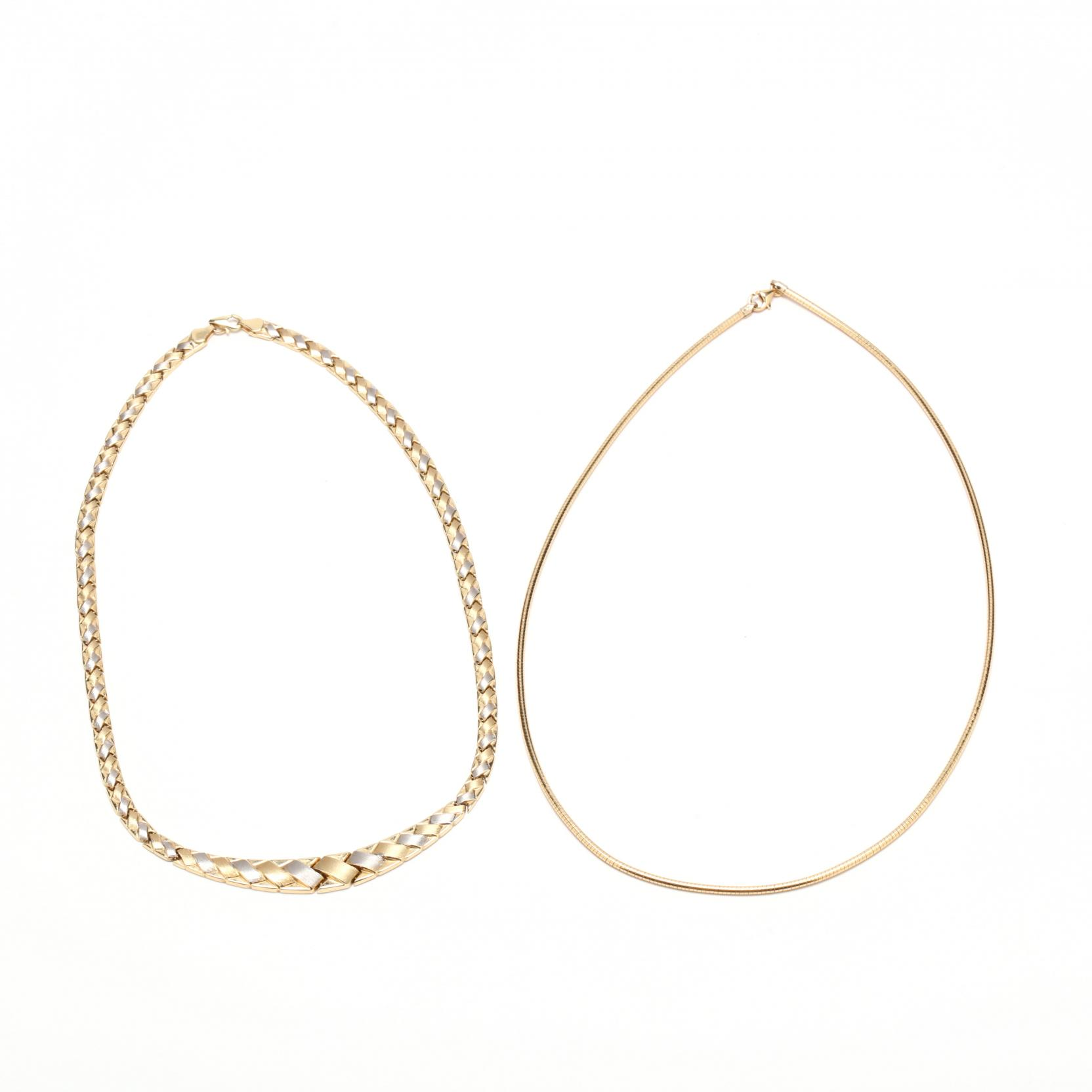 two-14kt-gold-necklaces