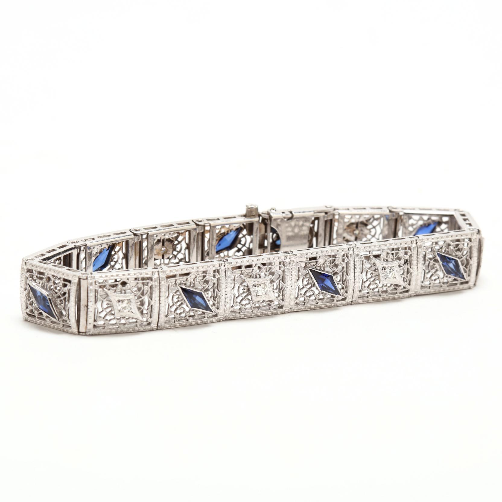 14kt-white-gold-diamond-and-sapphire-bracelet