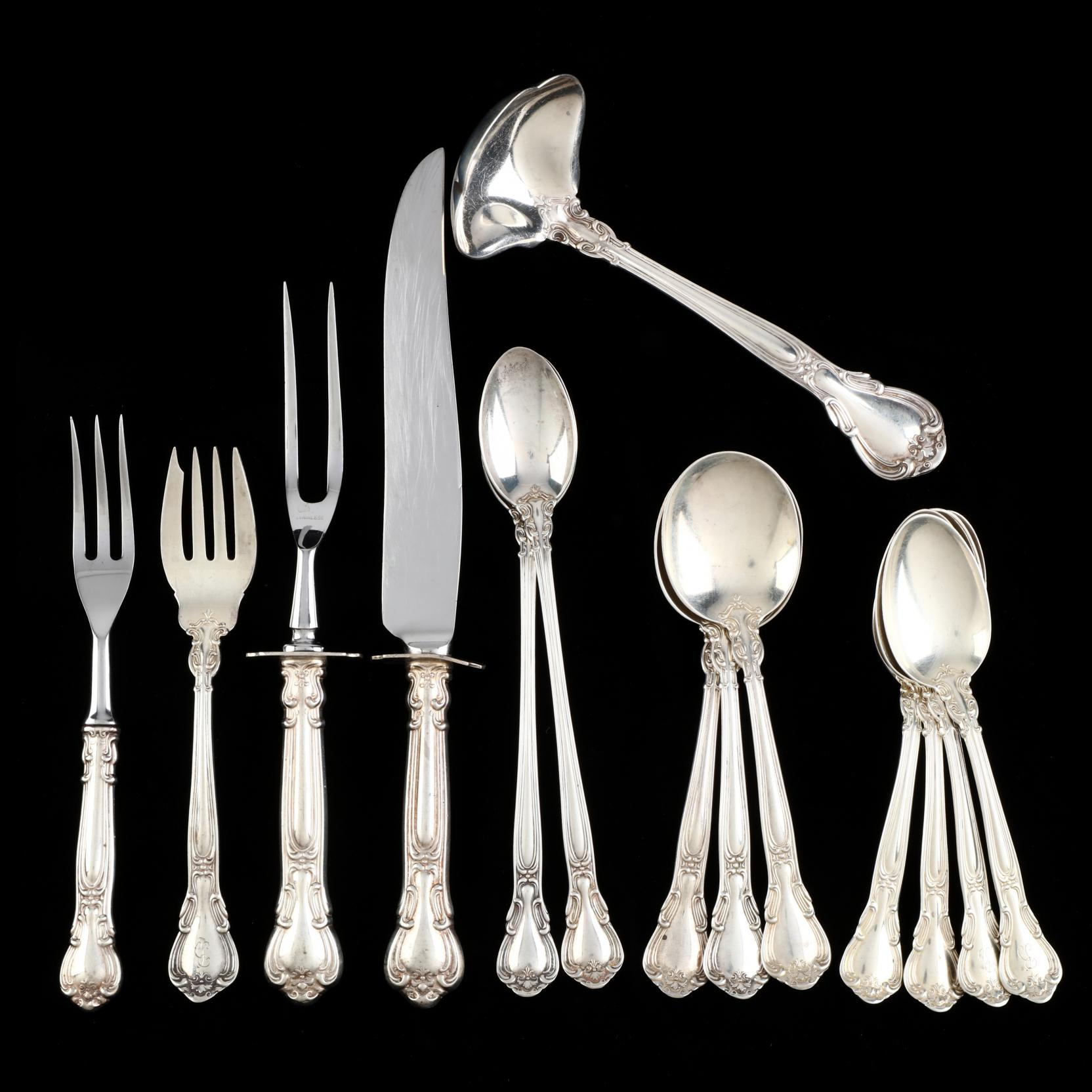a-group-of-gorham-chantilly-sterling-silver-flatware