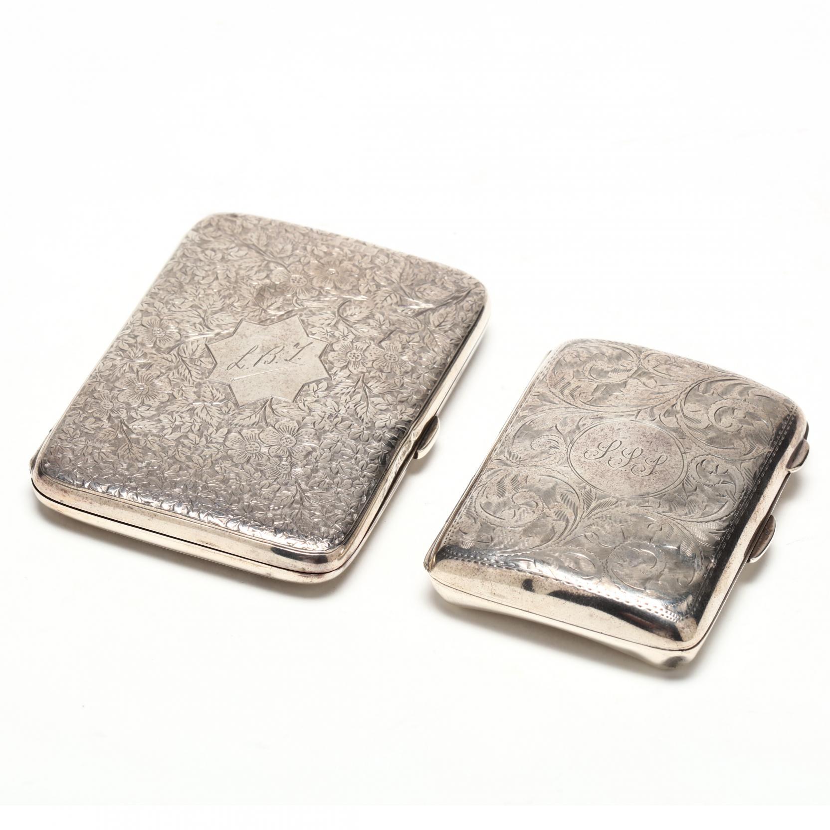 two-english-silver-cigarette-cases