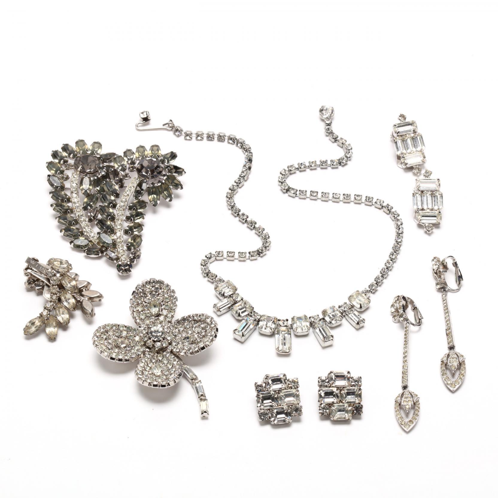 group-of-vintage-designer-rhinestone-jewelry