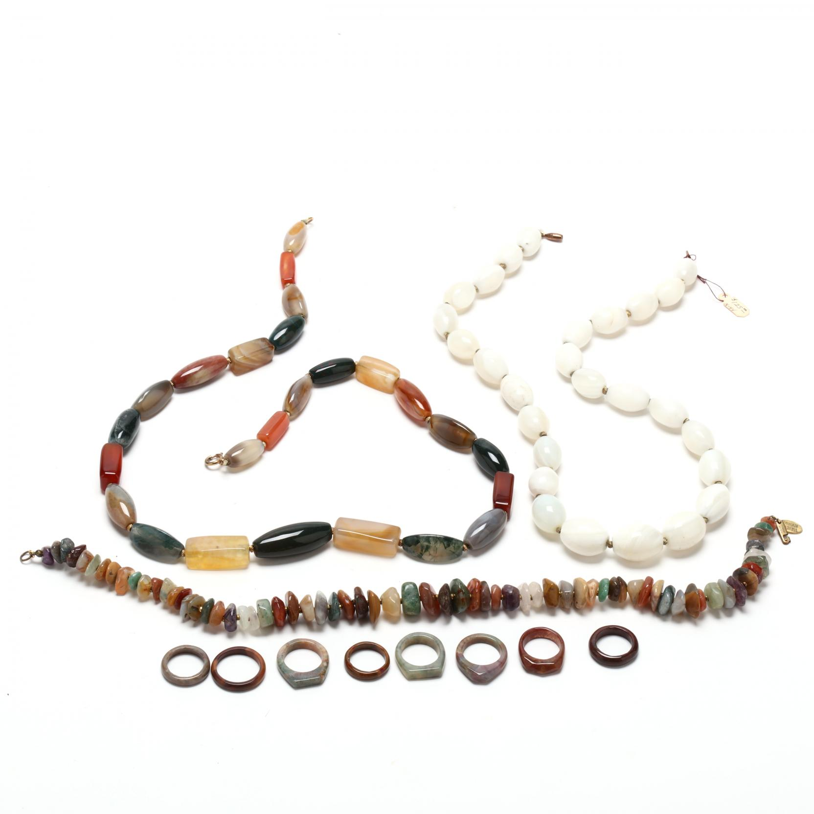 group-of-vintage-stone-jewelry