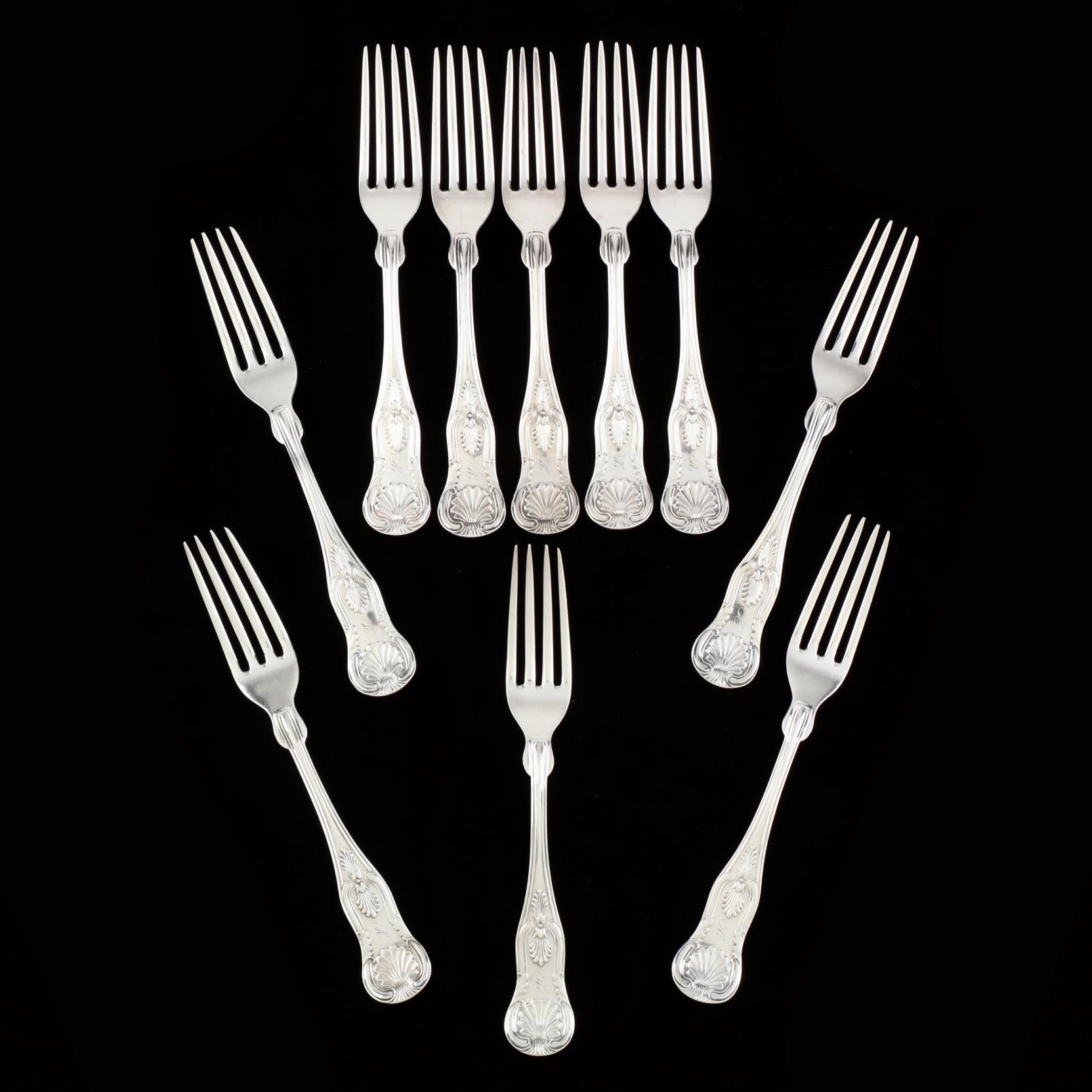a-set-of-ten-sterling-silver-kings-pattern-forks