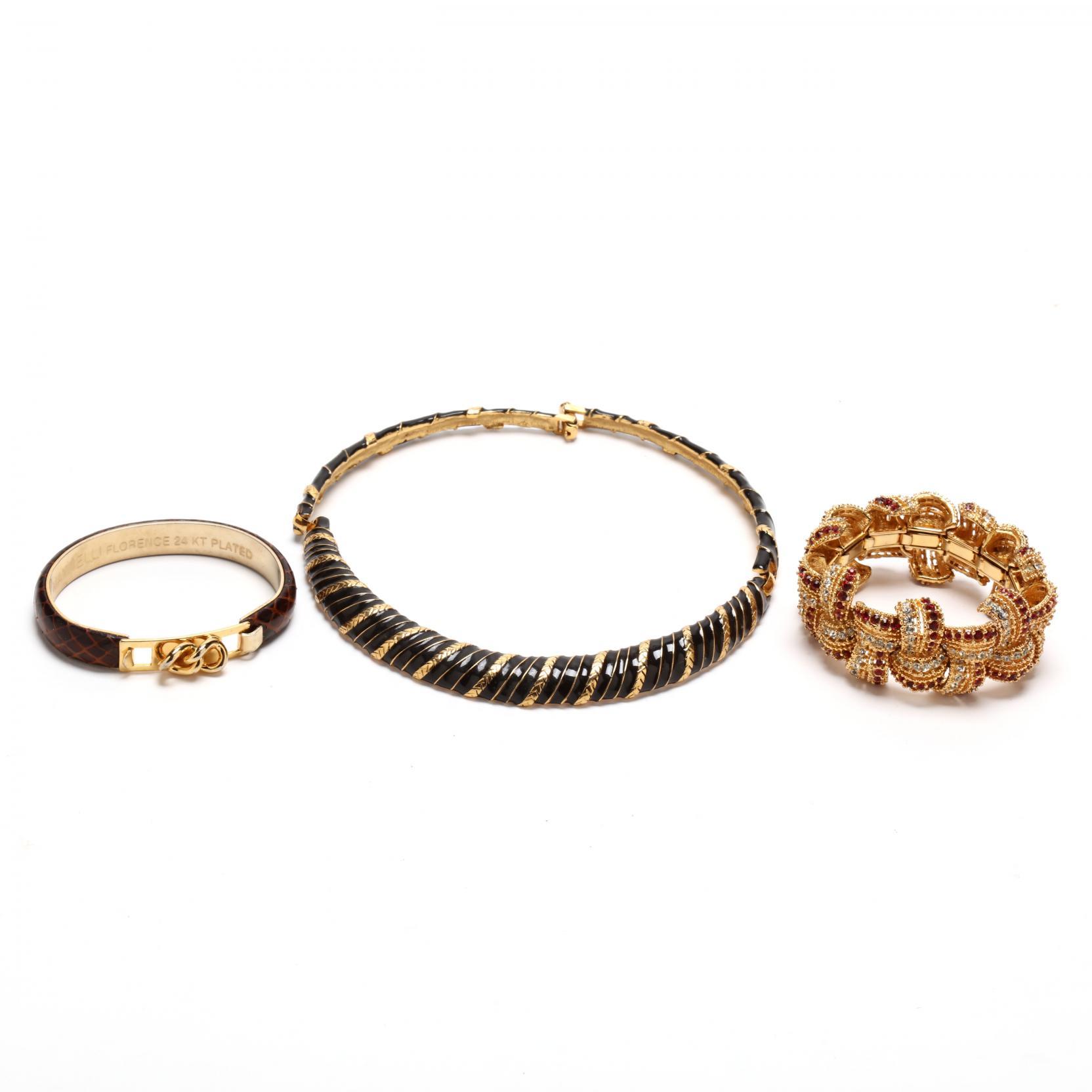 three-designer-costume-jewelry-pieces-signed