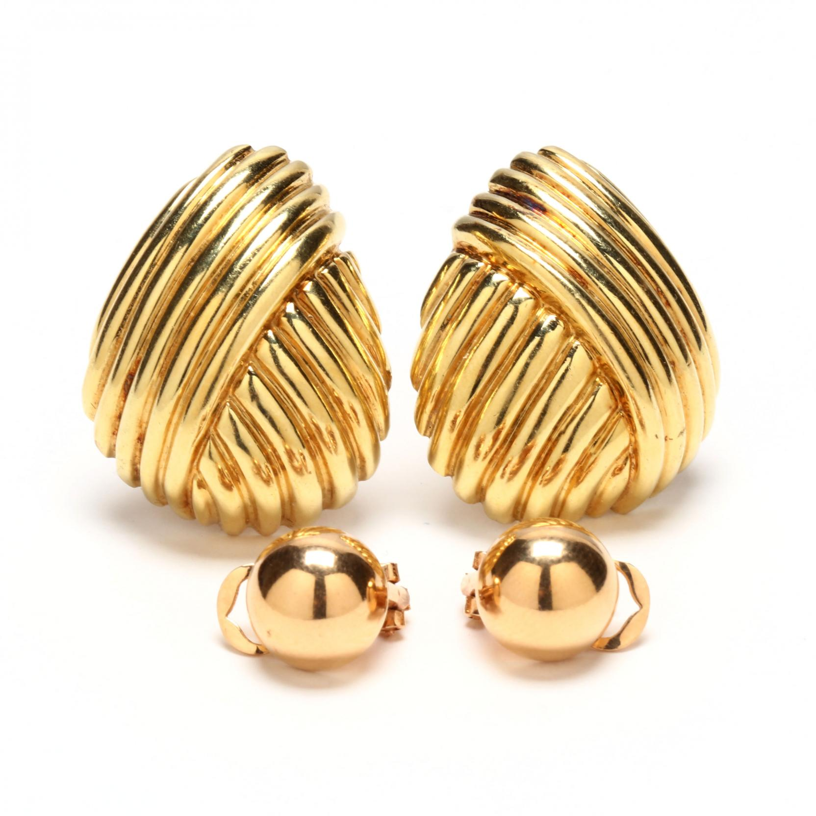 two-pairs-of-18kt-gold-ear-clips