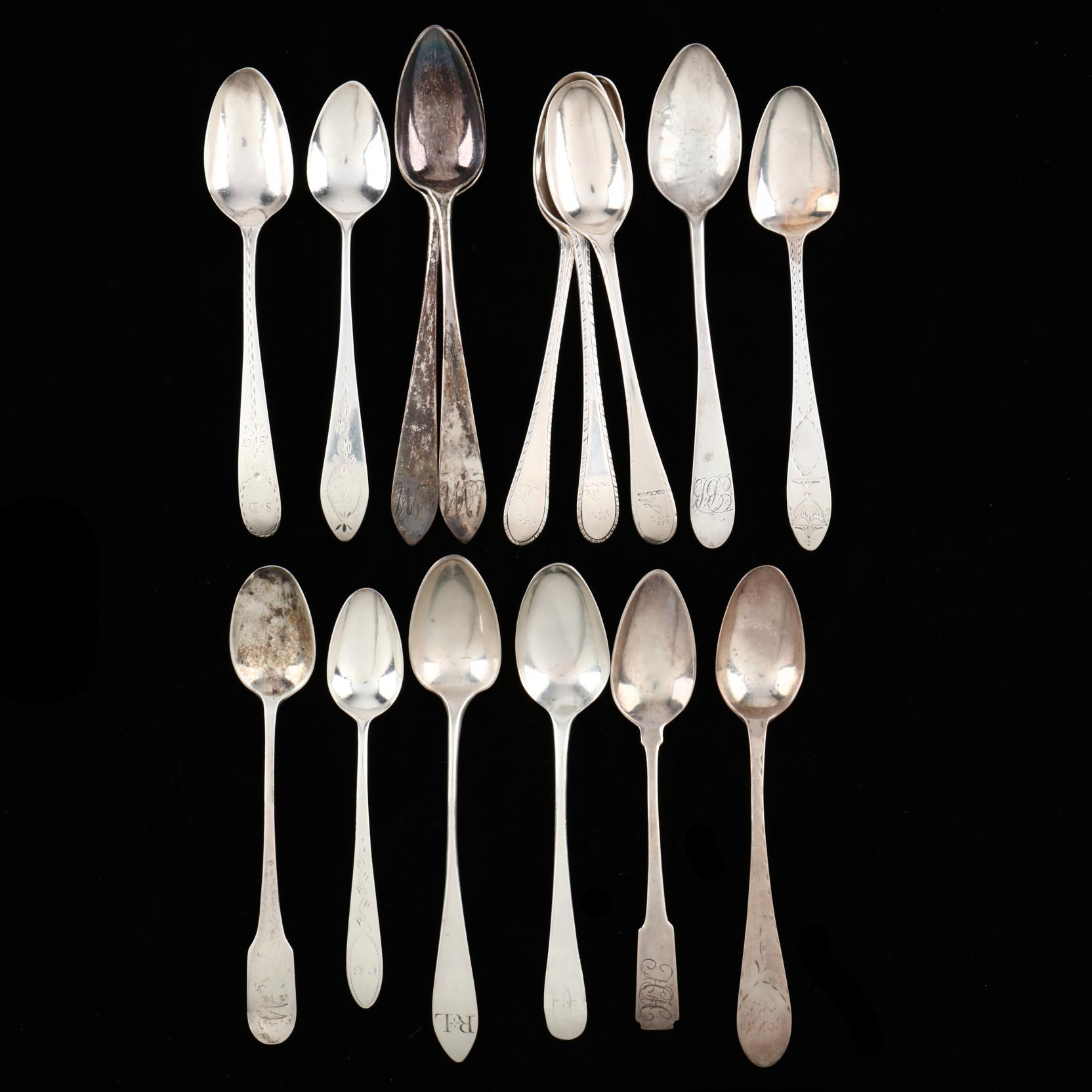 fifteen-assembled-federal-period-coin-silver-teaspoons